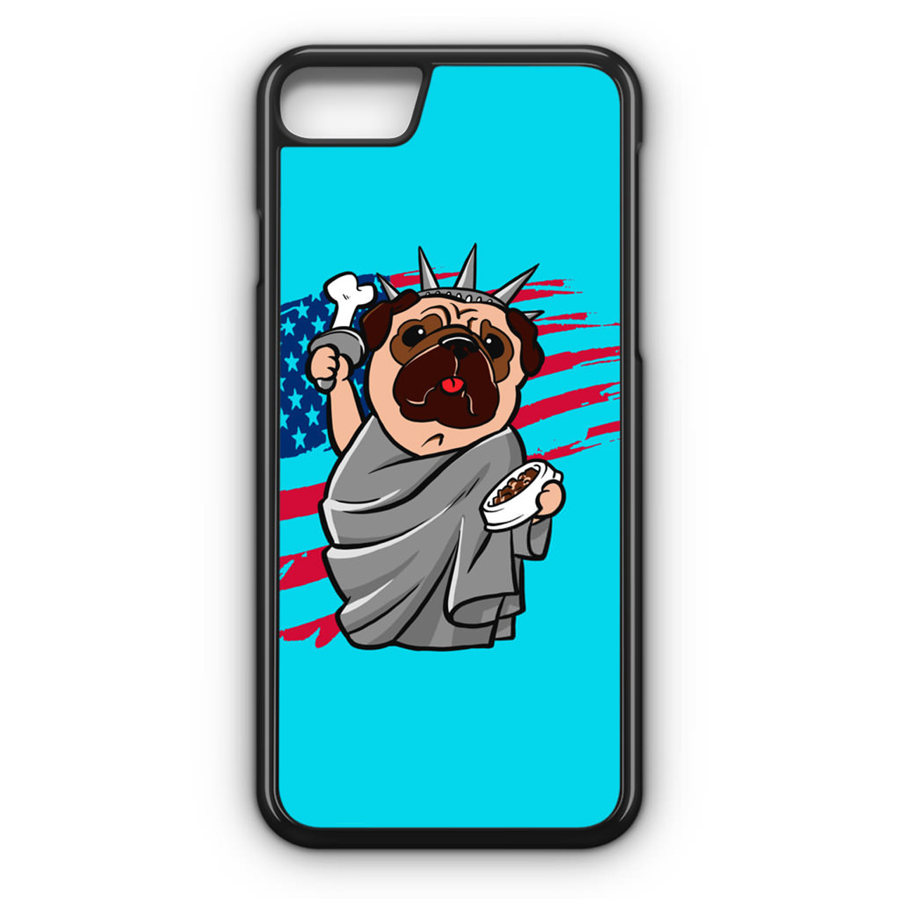 huge selection of 4f62c 182a0 4th of July, Independence day Pug iPhone 8 Case