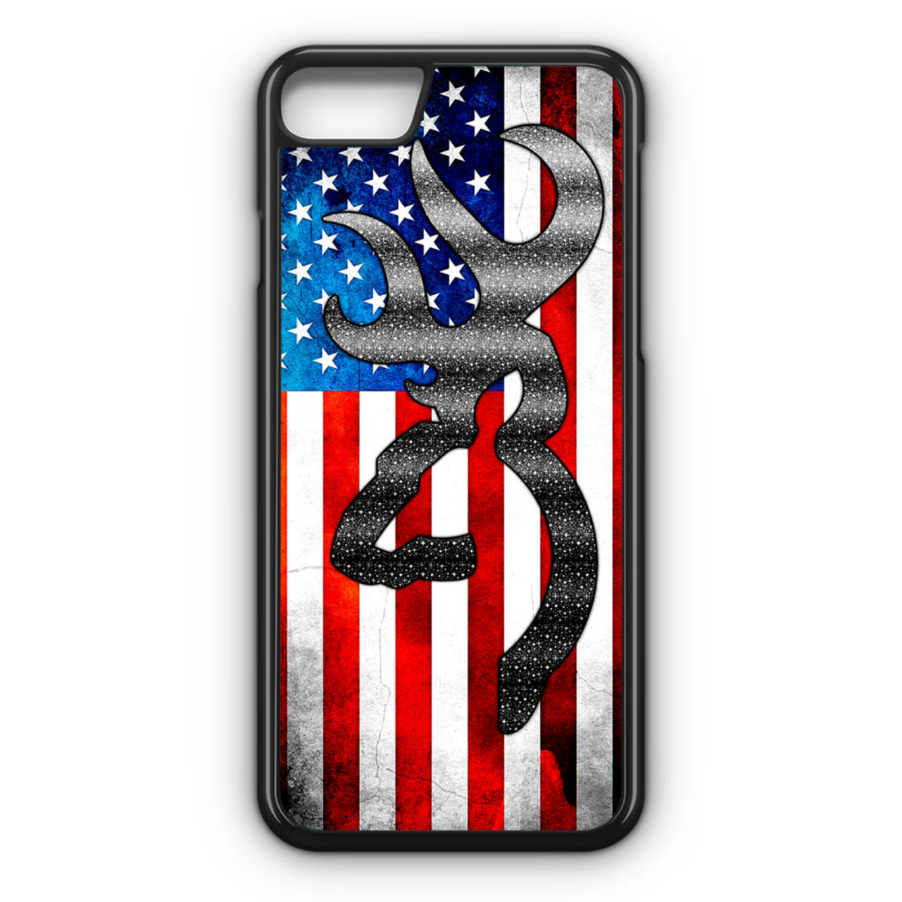 designer fashion 3cd7b e7589 Browning American Flag iPhone 8 Case