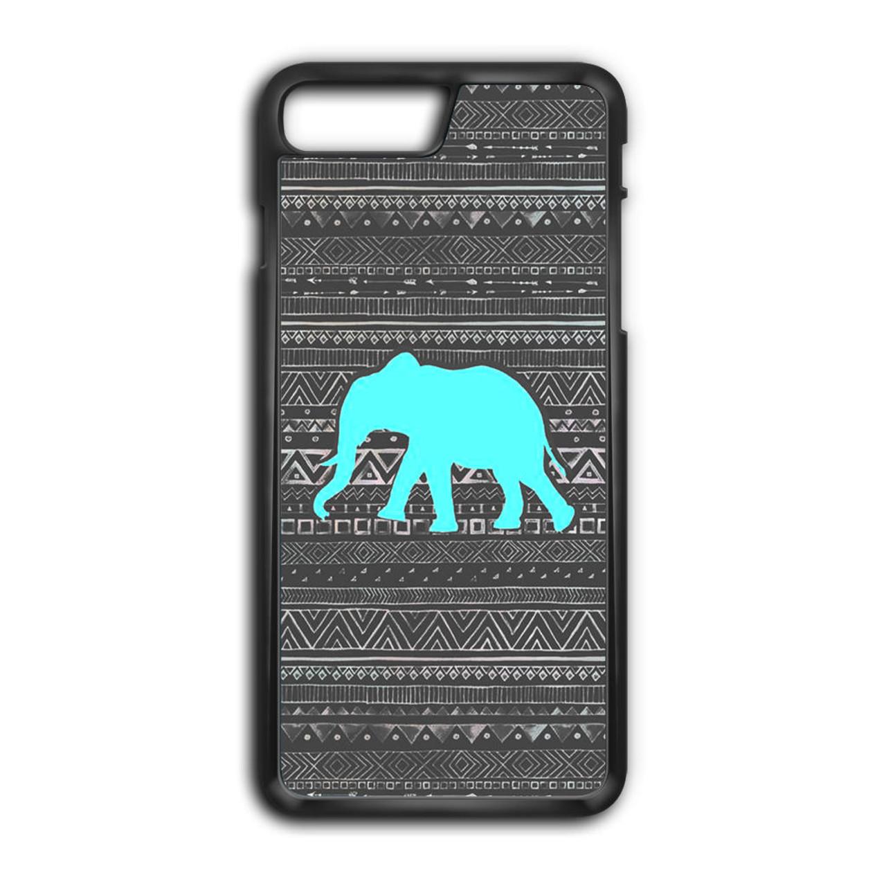various colors 1ede7 ca26b Aztec Elephant Turquoise iPhone 8 Plus Case