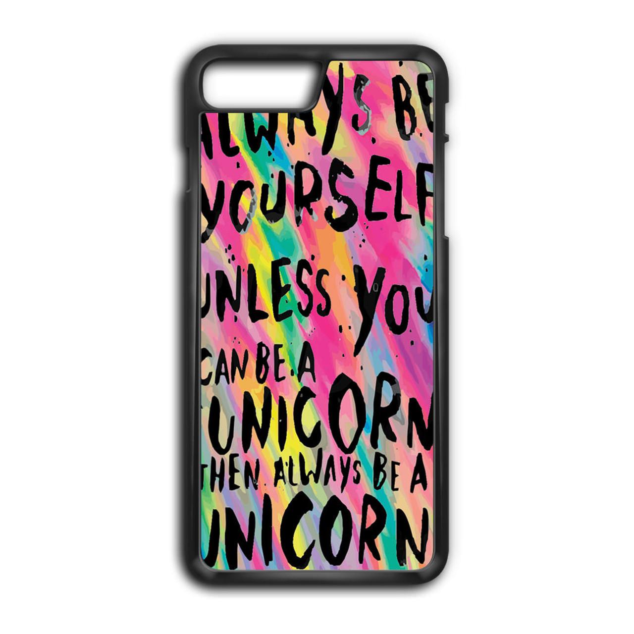 detailed look edc68 e131d Rainbow Unicorn Quote iPhone 8 Plus Case