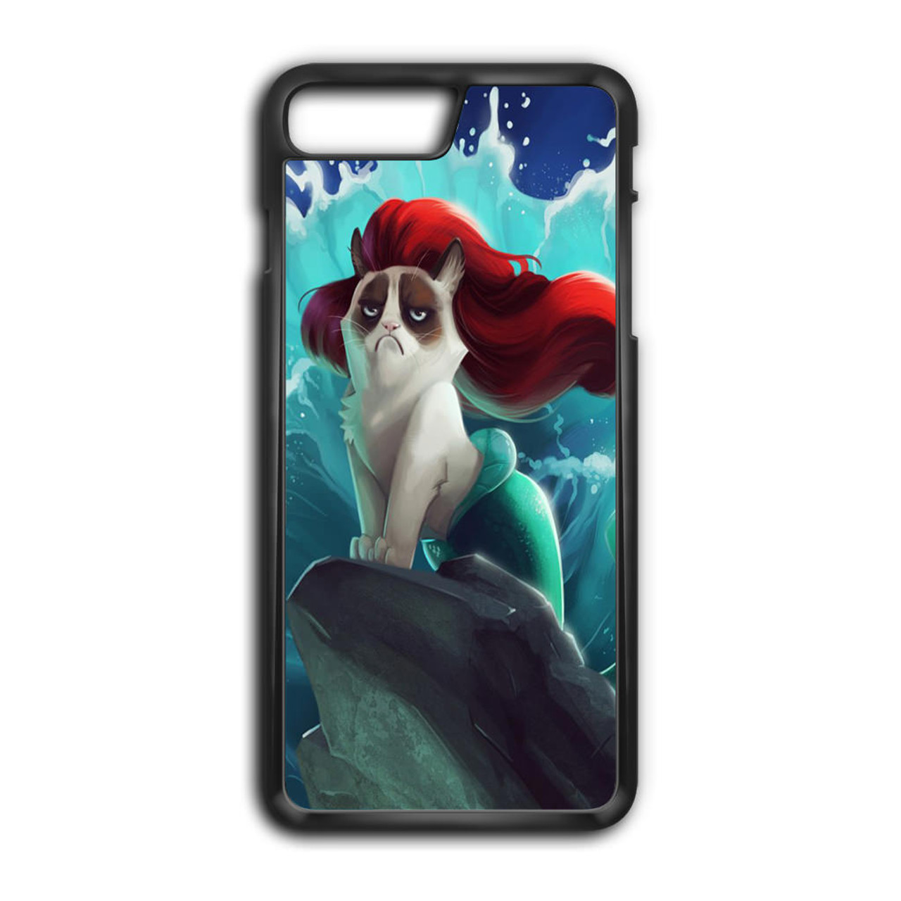 half off 26eb5 eb9dd Grumpy Cat and Disney Little Mermaid iPhone 8 Plus Case