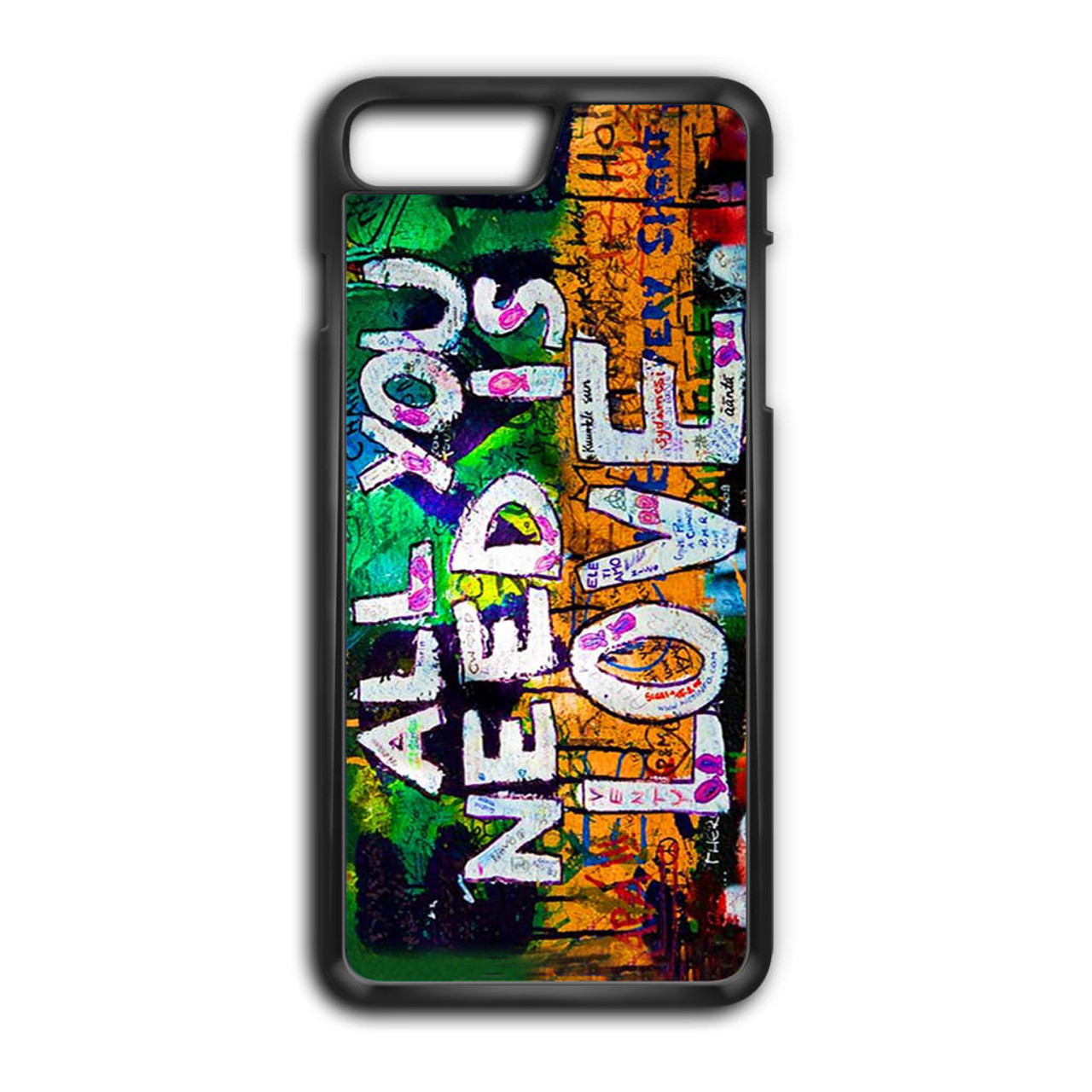 The beatles graffiti all you need is love iphone 8 plus case caseshunter