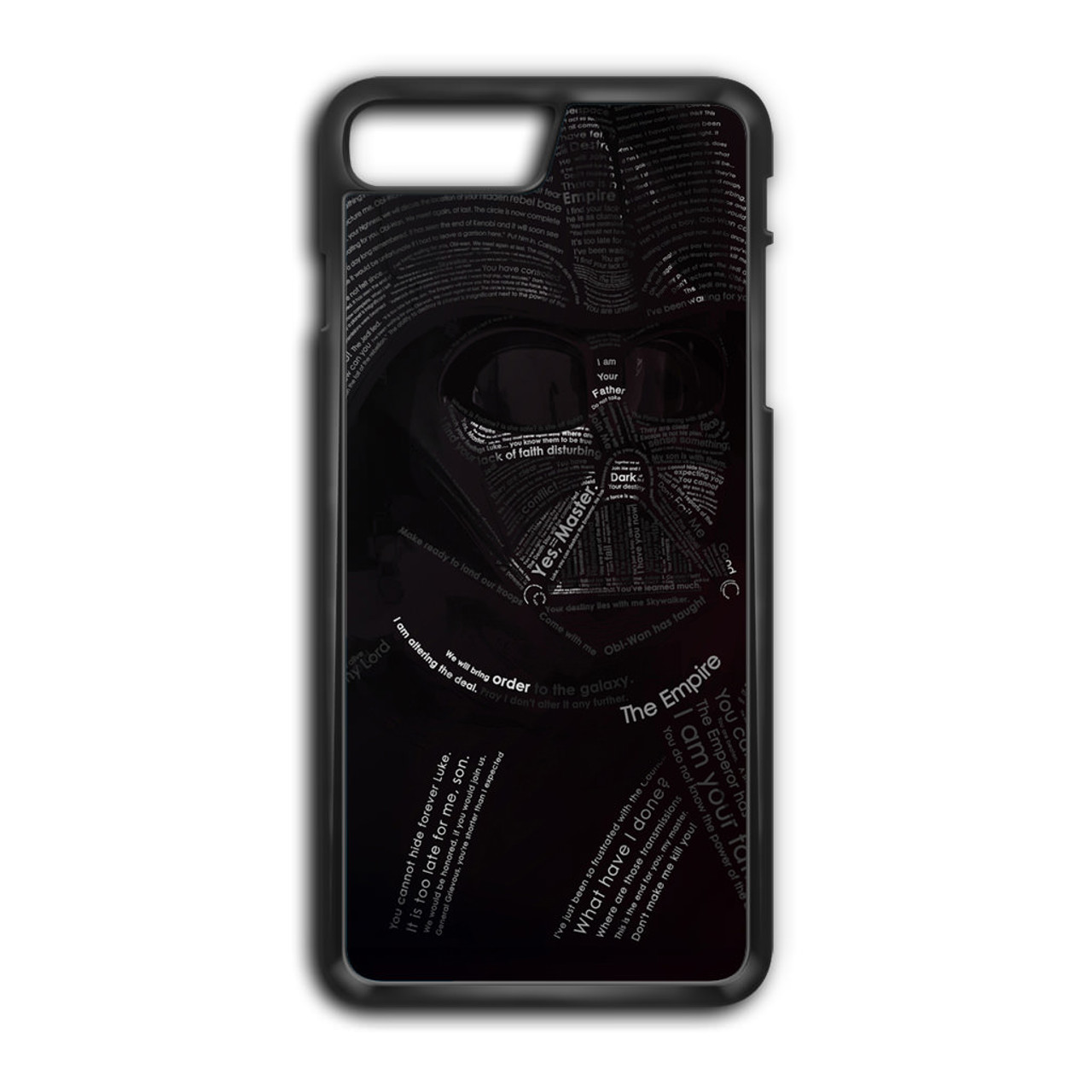 sports shoes a0c07 02ea1 Star Wars Darth Vader Typography iPhone 8 Plus Case