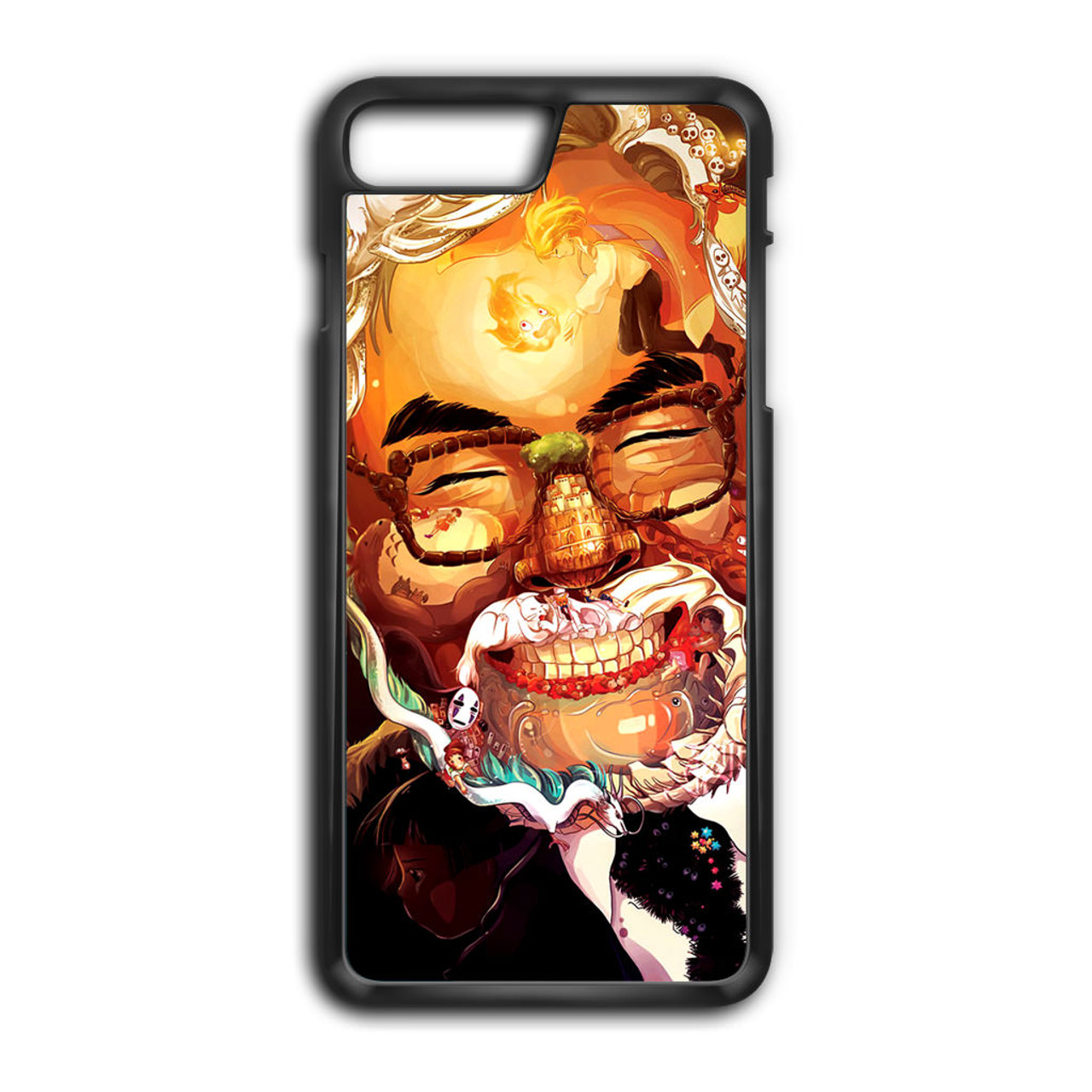 lowest price 82341 5ff48 Studio Ghibli Face Art Illustration Love Anime iPhone 8 Plus Case