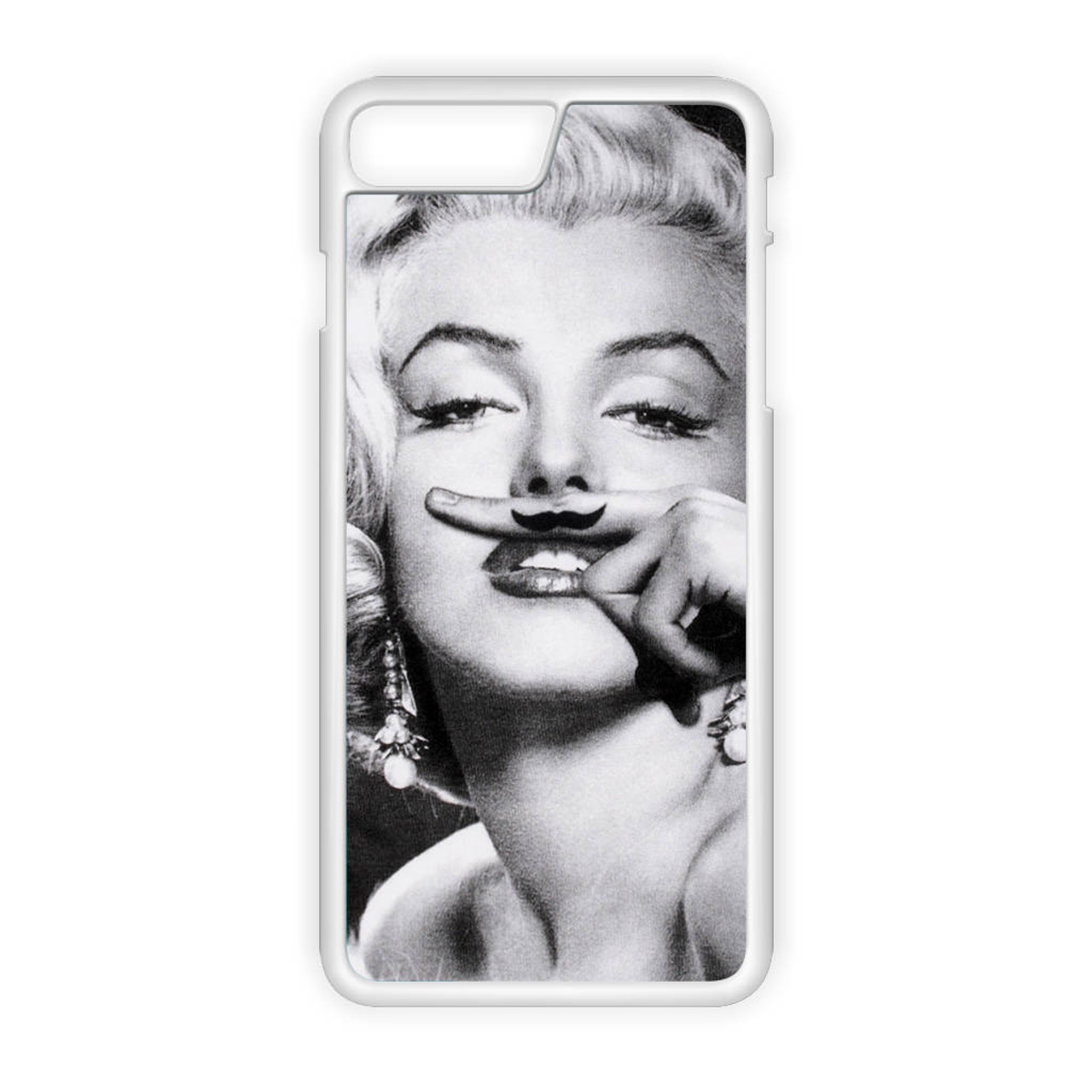 Marilyn Monroe Mustache iPhone 8 Plus Case