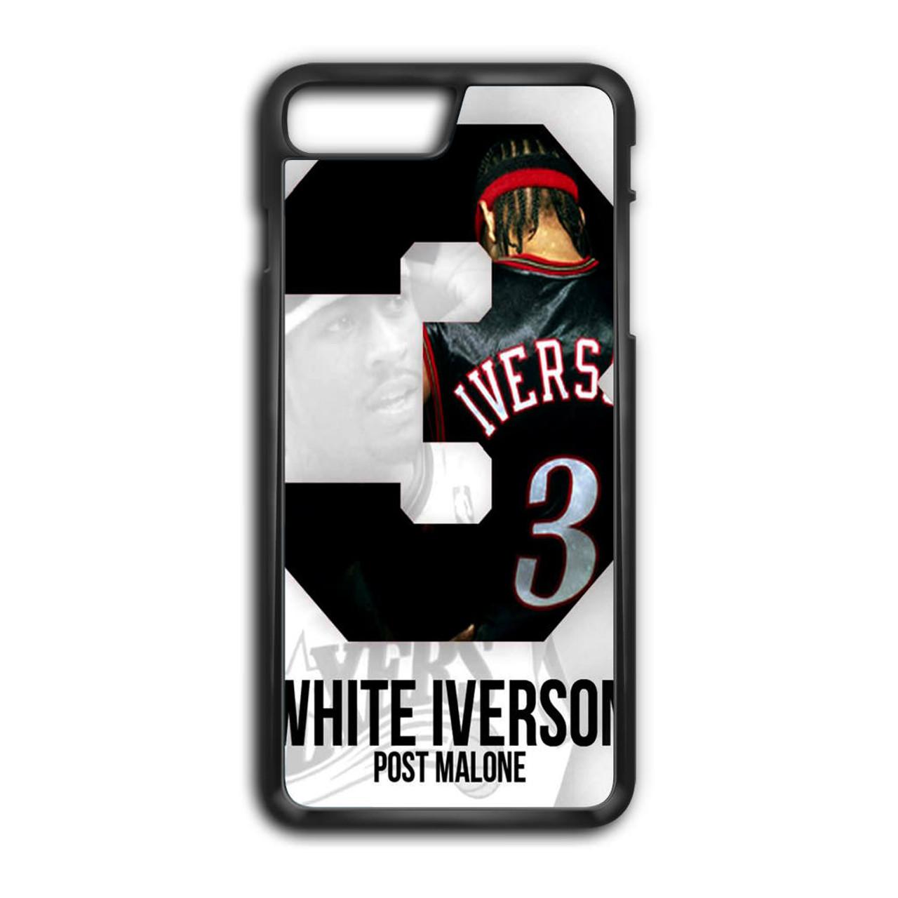 buy online 6e783 5edc6 Post Malone White Iverson iPhone 8 Plus Case