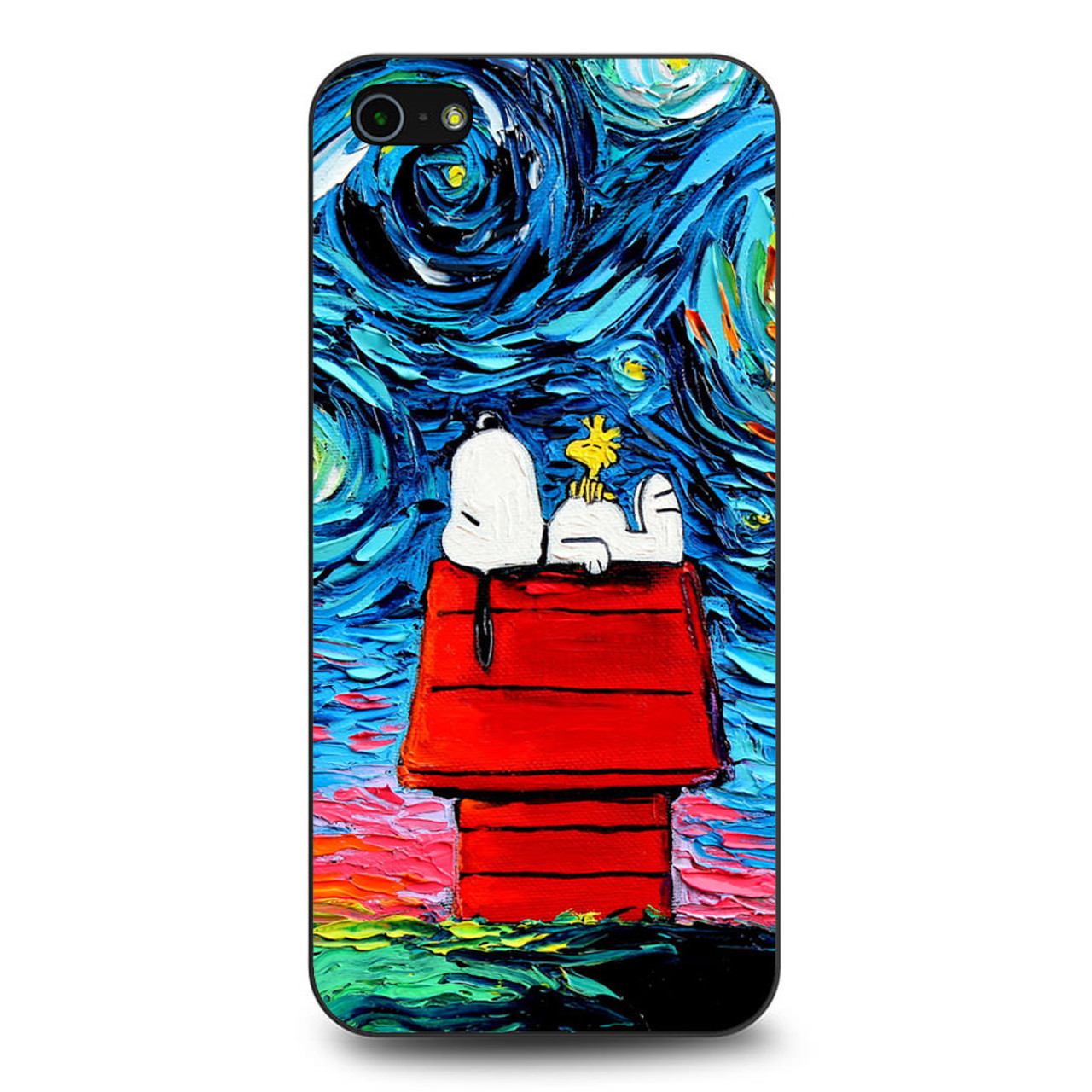 online retailer accef 700ce Snoopy Starry Night Van Gogh iPhone 5/5S/SE Case
