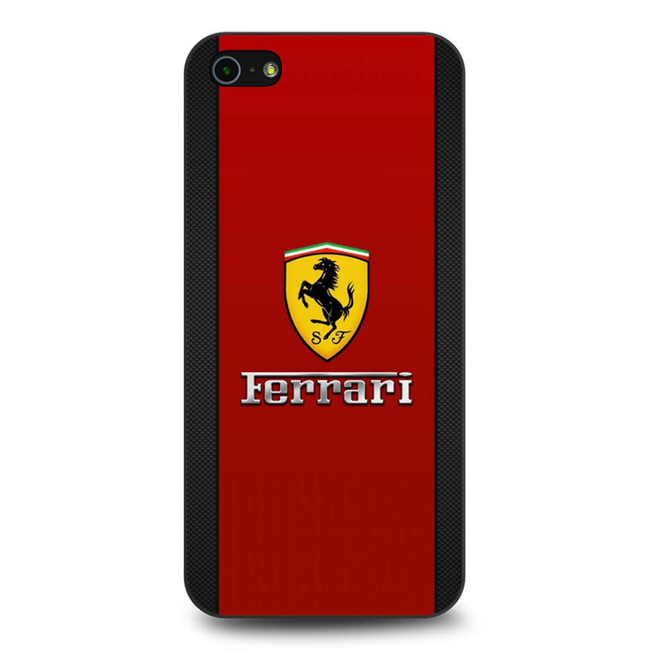 sports shoes b9506 4f77b Ferrari Logo Red Carbon iPhone 5/5S/SE Case