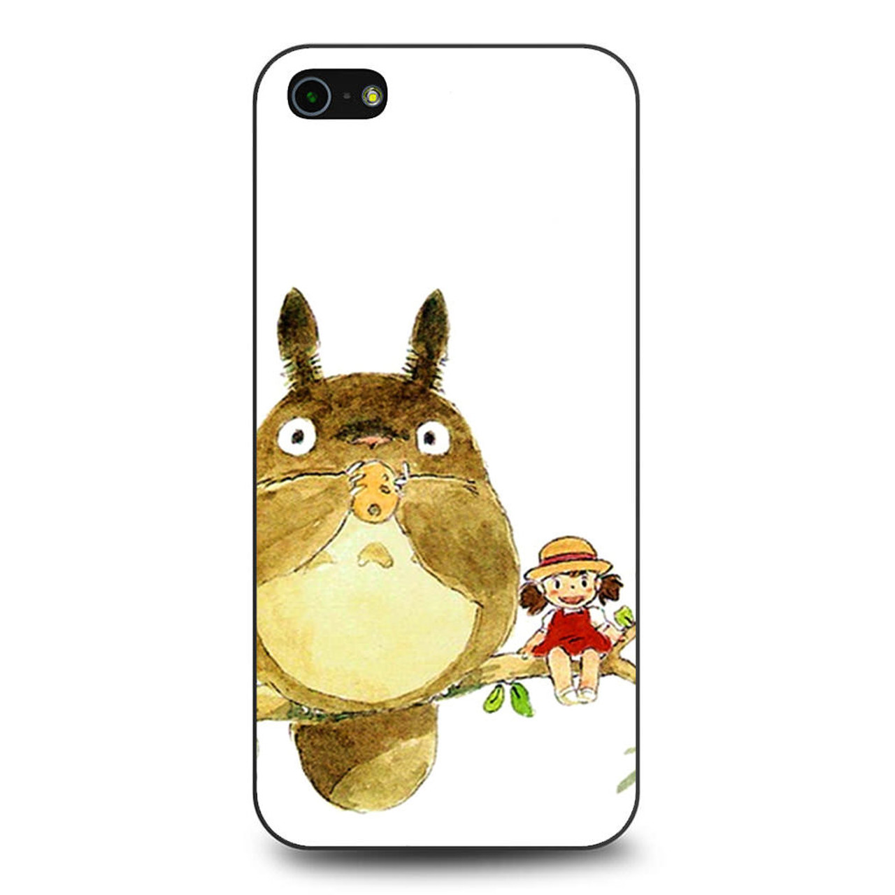 check out 3bbc4 7052d My Neighbor Totoro Cute Girl Branch Art iPhone 5/5S/SE Case