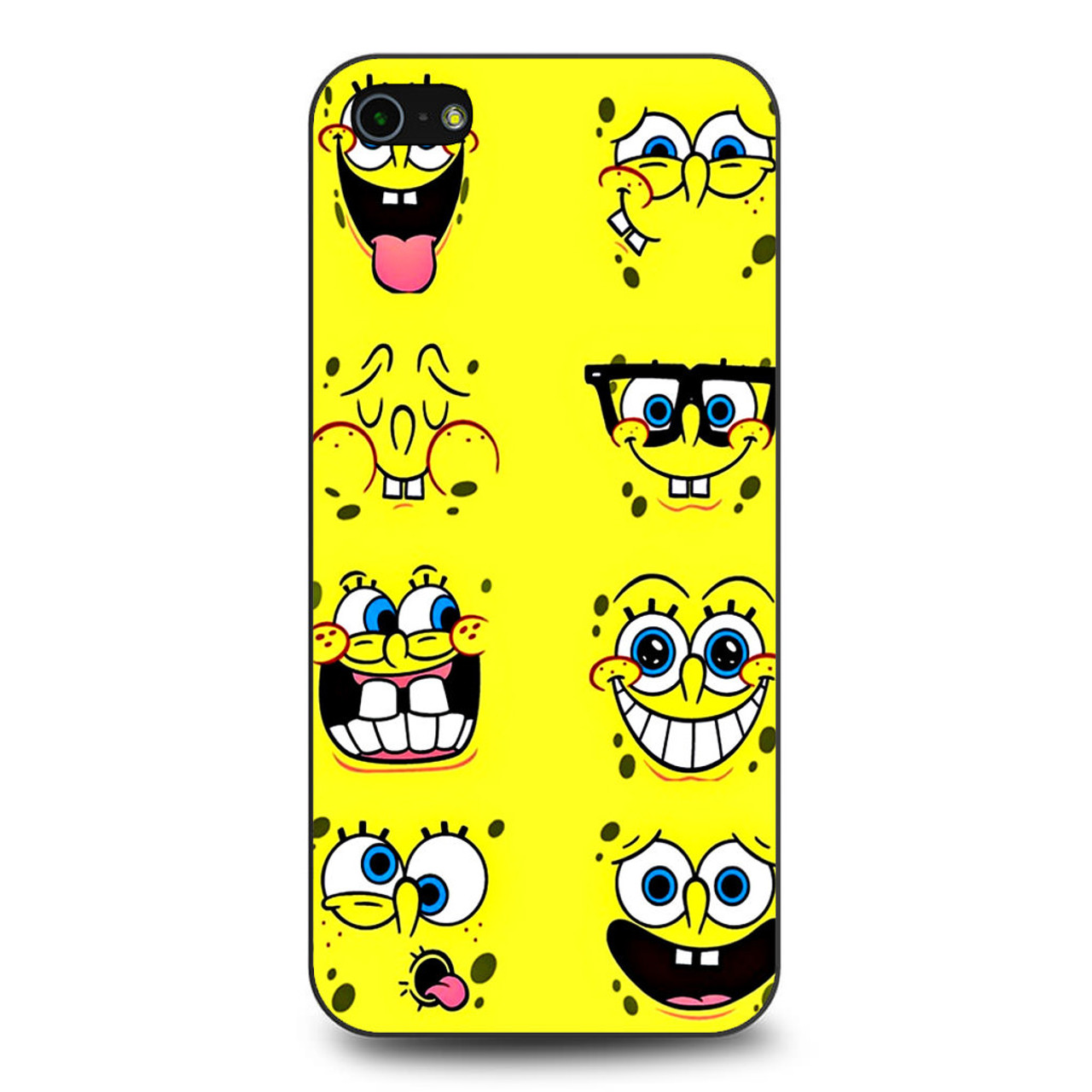designer fashion f1693 e4315 Spongebob Faces iPhone 5/5S/SE Case