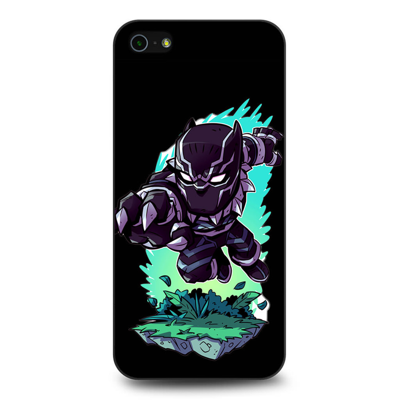 cheap for discount e02c9 77e1d Black Panther Chibi iPhone 5/5S/SE Case