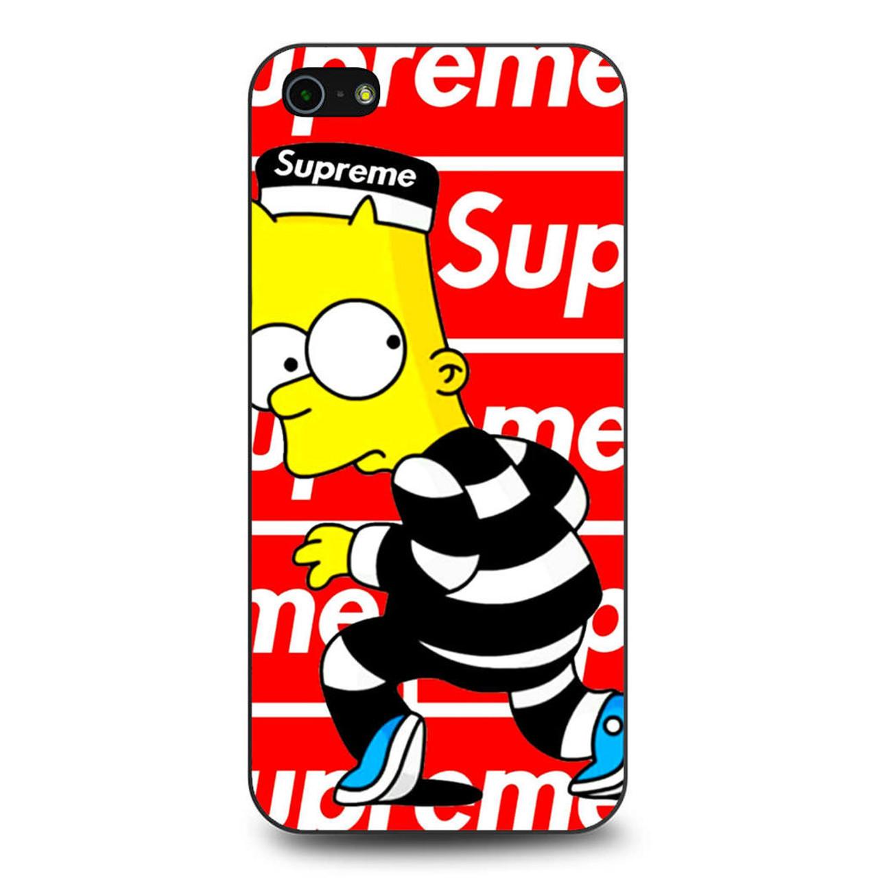 Supreme Bart Iphone 5 5s Se Case