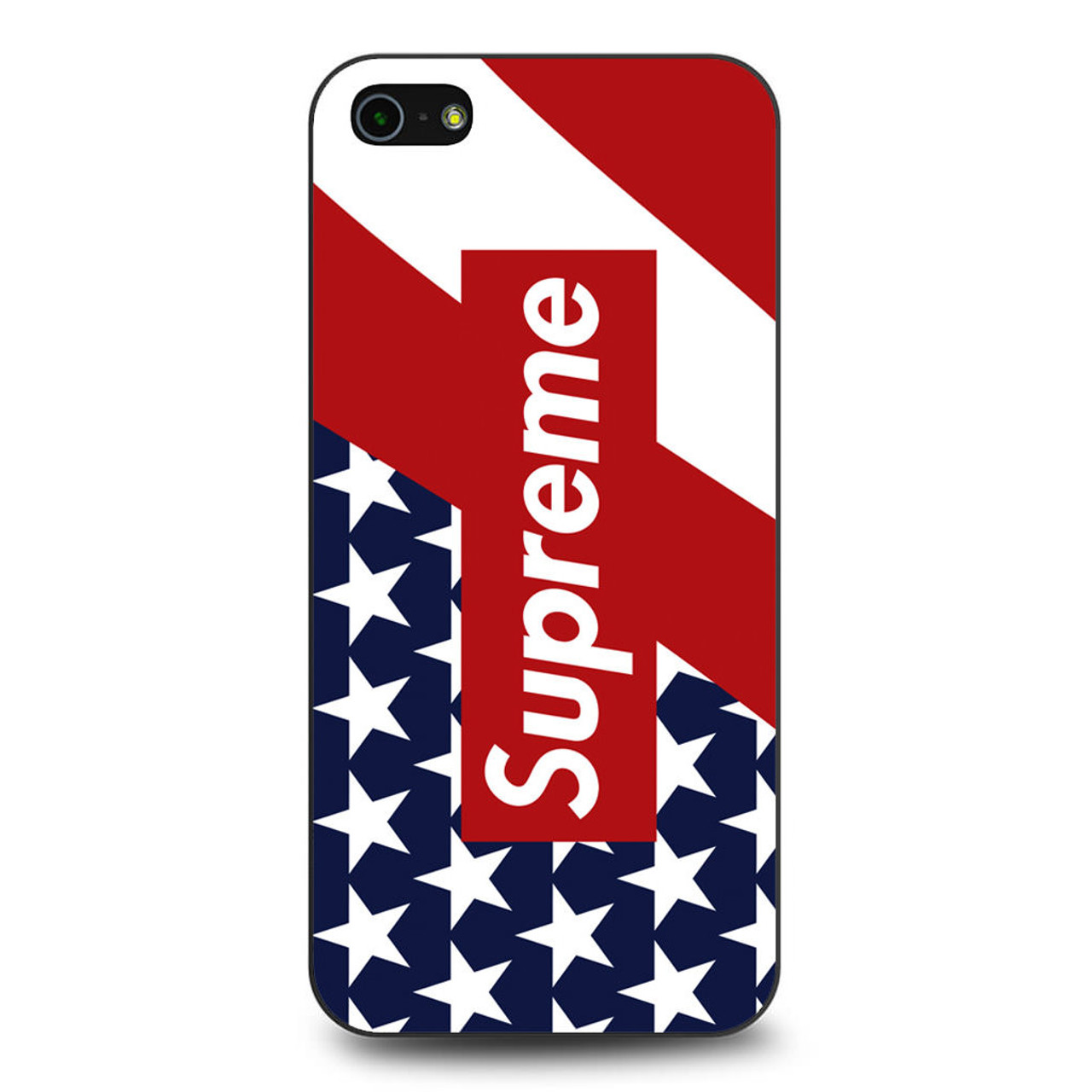 the latest f6649 c3ea2 Supreme Flag iPhone 5/5S/SE Case