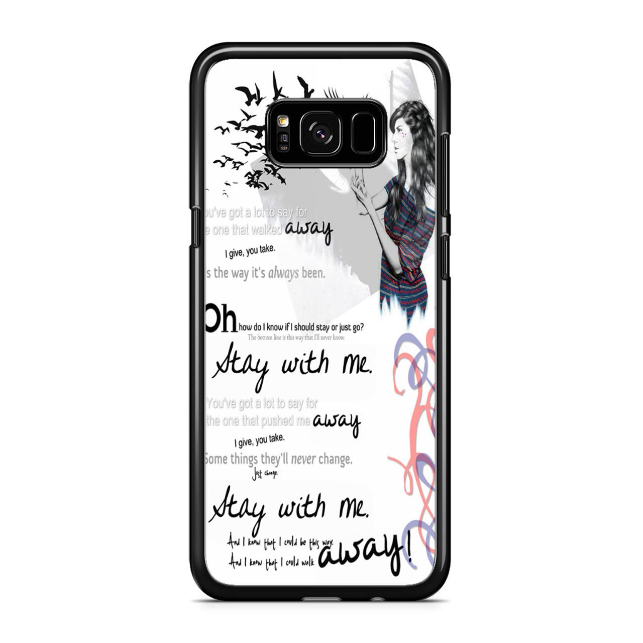 Stay With Me Sam Smith Lyrics Art Samsung Galaxy S8 Case