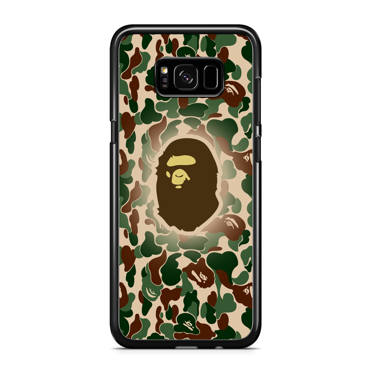size 40 ee038 69b4e Bathing Ape Bape Camo Samsung Galaxy S8 Case
