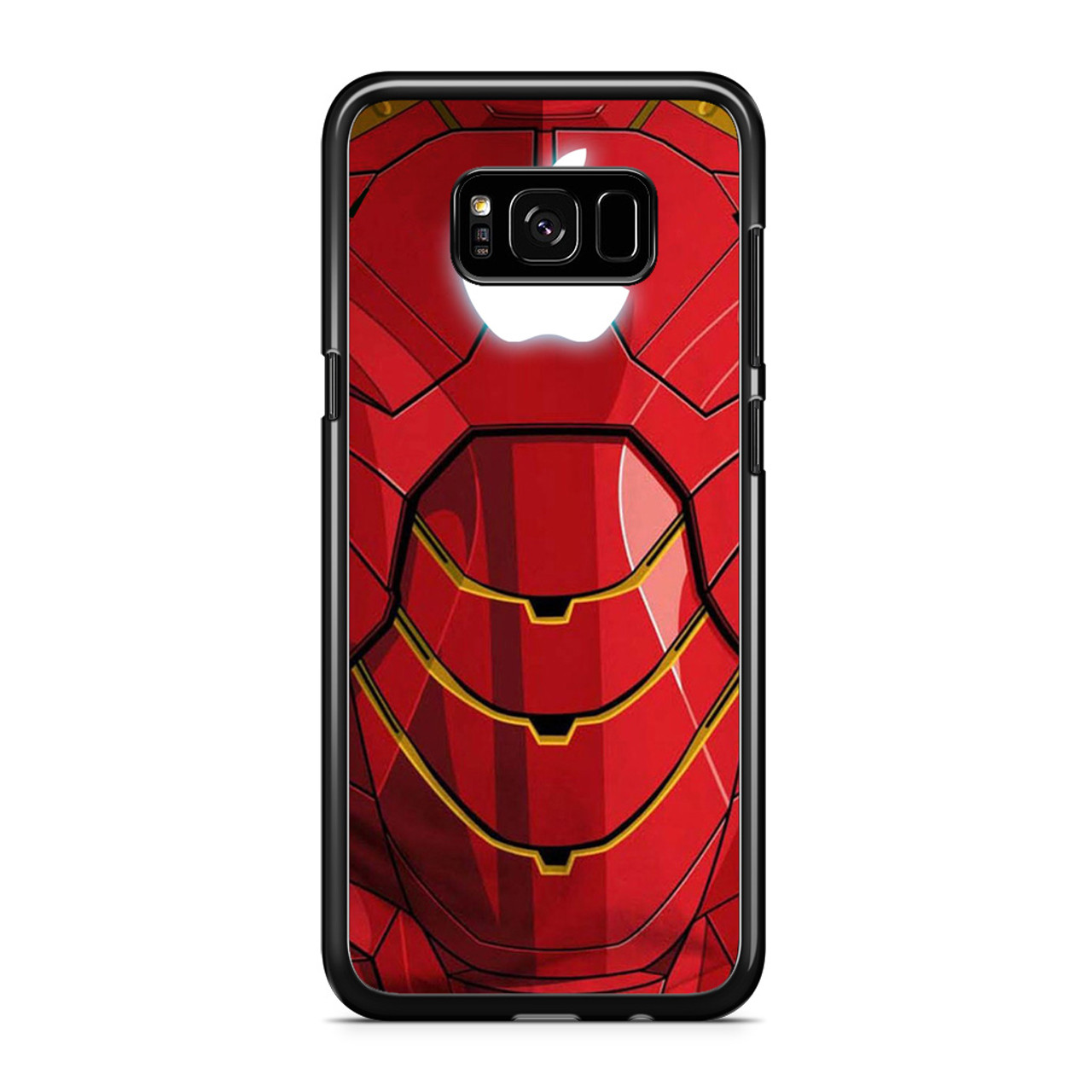 online retailer 99dd0 576dd Iron man apple logo Samsung Galaxy S8 Case