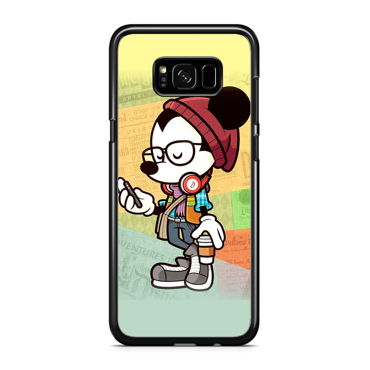 best service 3b7fb 1d2ca Hipster Mickey Mouse Samsung Galaxy S8 Case