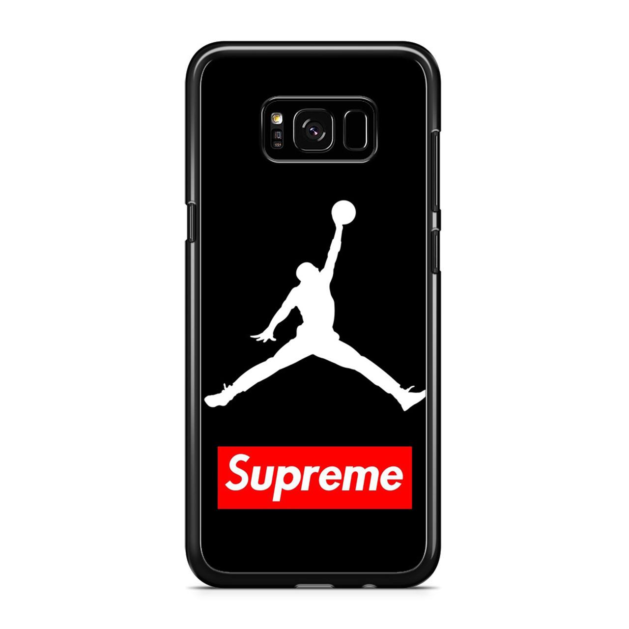 newest 8e627 d9413 Supreme Air Jordan Samsung Galaxy S8 Case