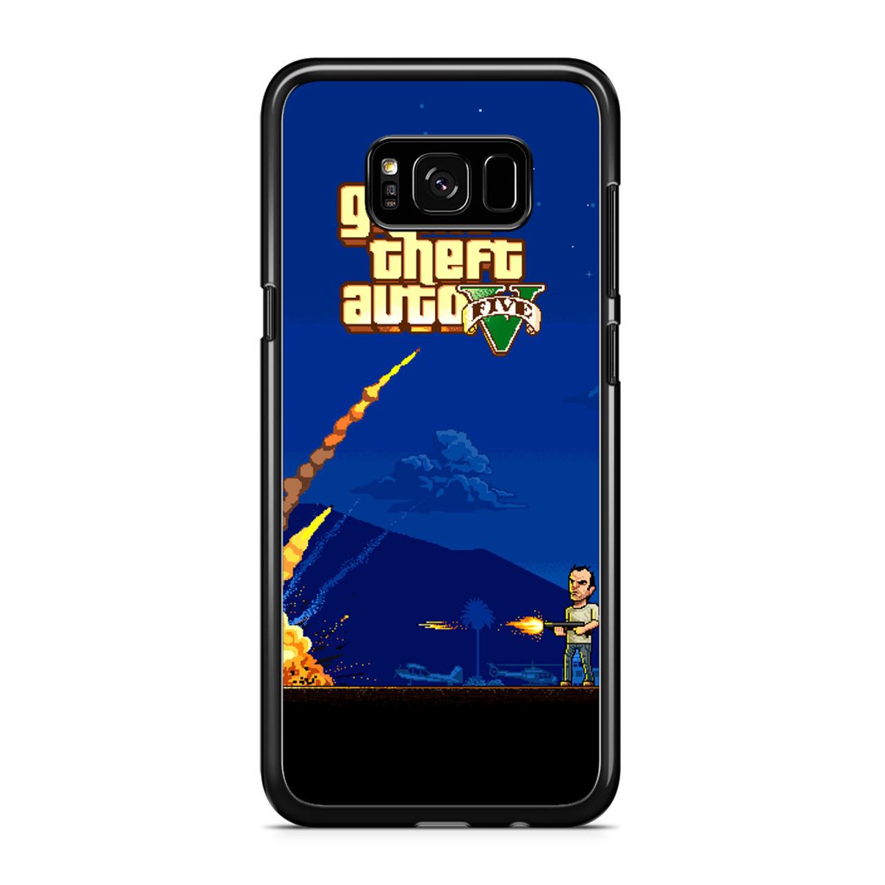 new arrival 64109 f7a01 Gta V Minimalism Samsung Galaxy S8 Case