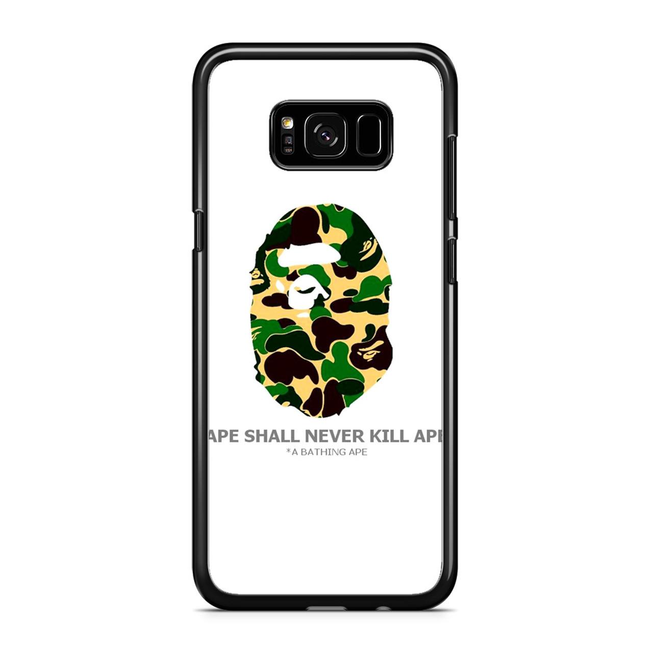 reputable site a2494 80a6e Bape Ape Camo Samsung Galaxy S8 Case