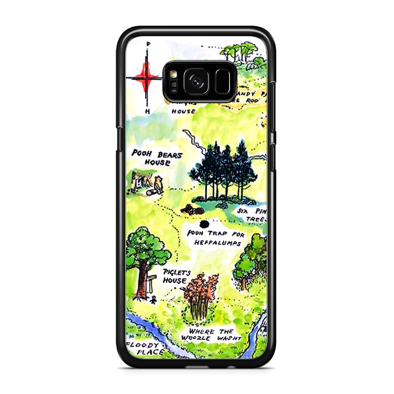newest collection 5c589 0e708 Winnie the Pooh Hundred Acre Woods Map Samsung Galaxy S8 Case