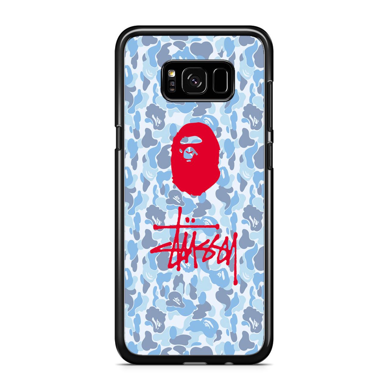 on sale 1b560 d9bd7 Bape X Stussy Samsung Galaxy S8 Plus Case