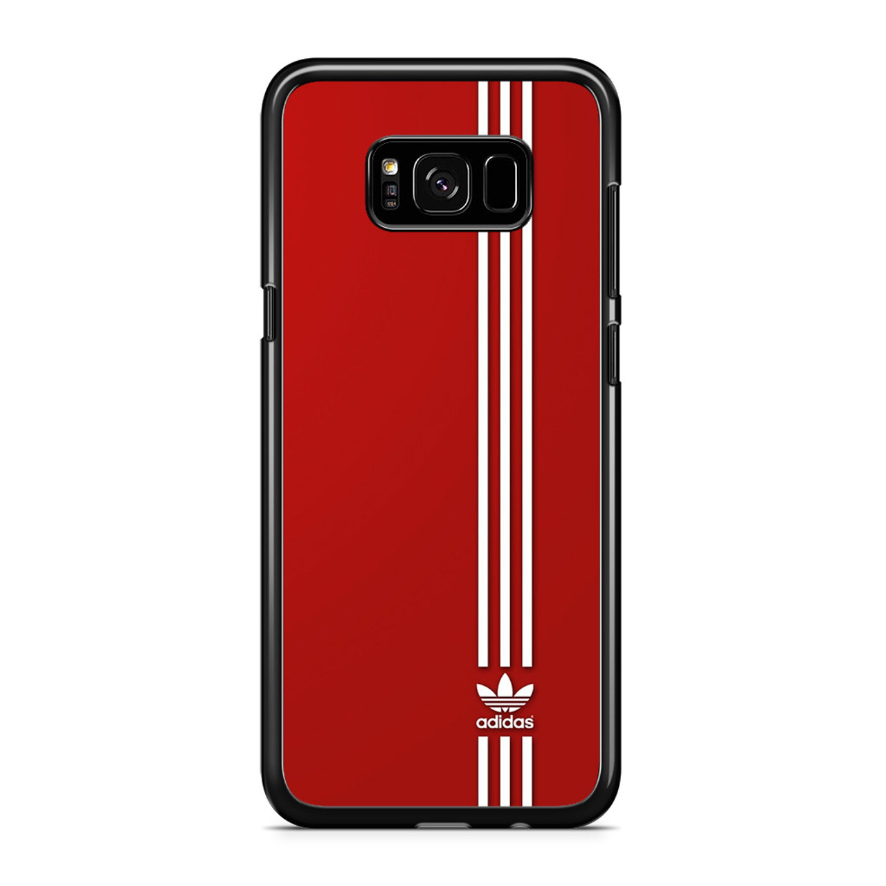 the latest 6c6cc dd366 Brand Adidas Red White Sport Samsung Galaxy S8 Plus Case