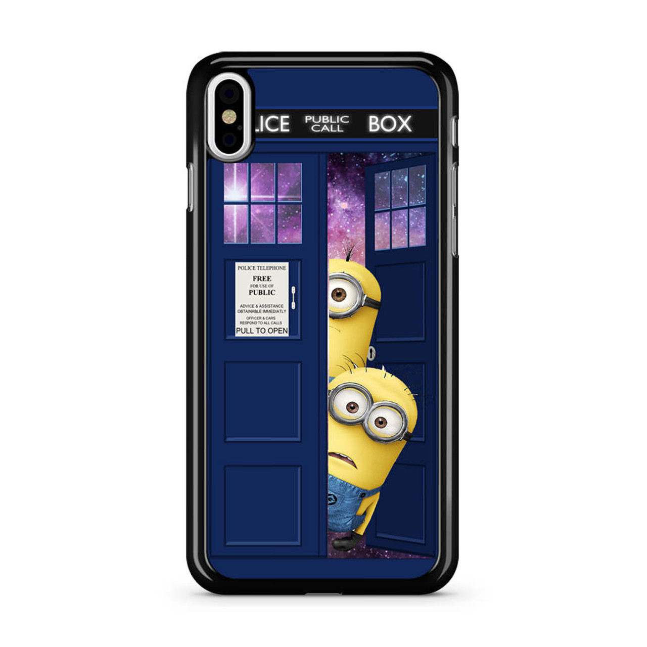 sports shoes b6860 90d28 Despicable Me In Dr Who Tardis iPhone X Case