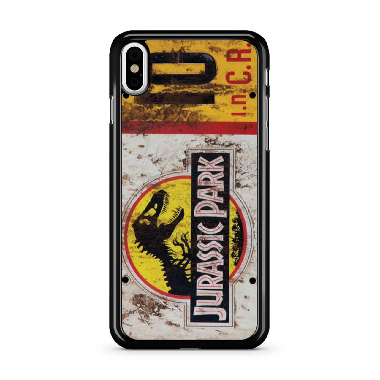 cheap for discount 3af1f c90ae Jurassic Park Jeep License Number 10 iPhone X Case