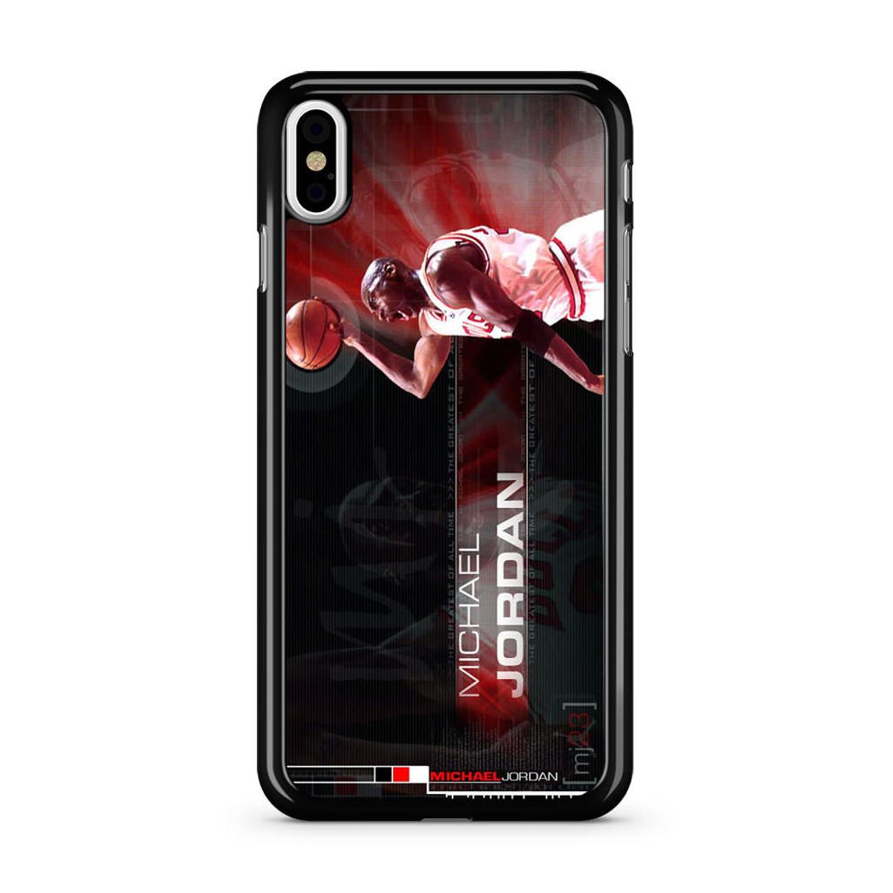 brand new 062ea e7dc8 Michael Jordan NBA Legend iPhone X Case