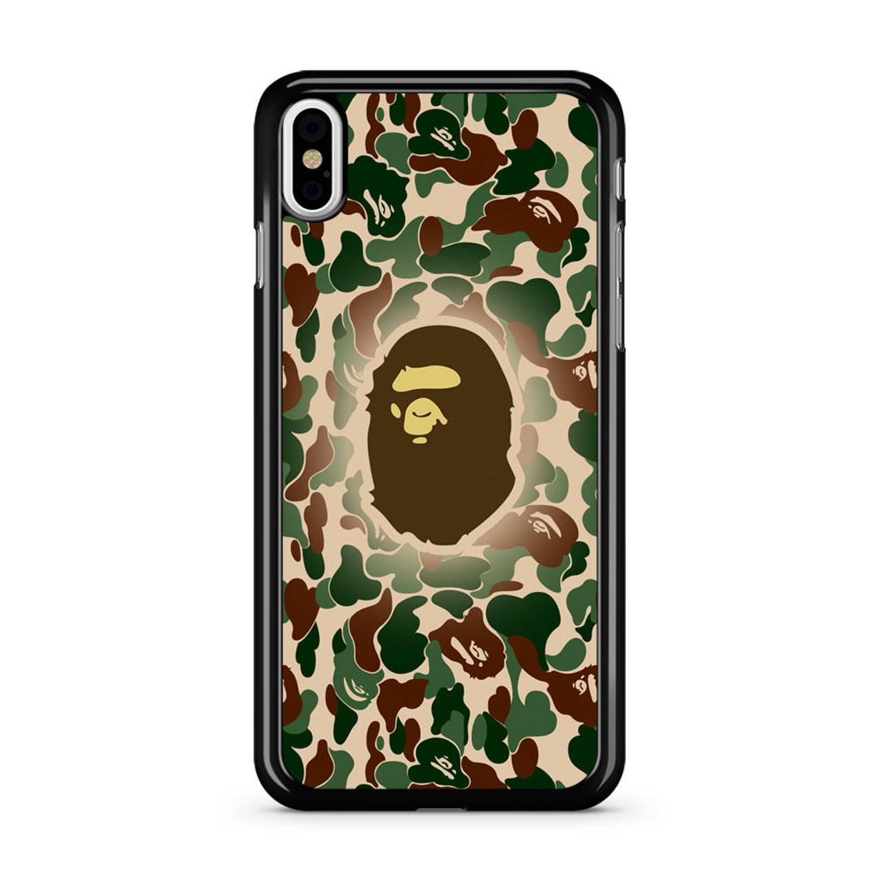 timeless design 7aaff 339a6 Bathing Ape Bape Camo iPhone X Case