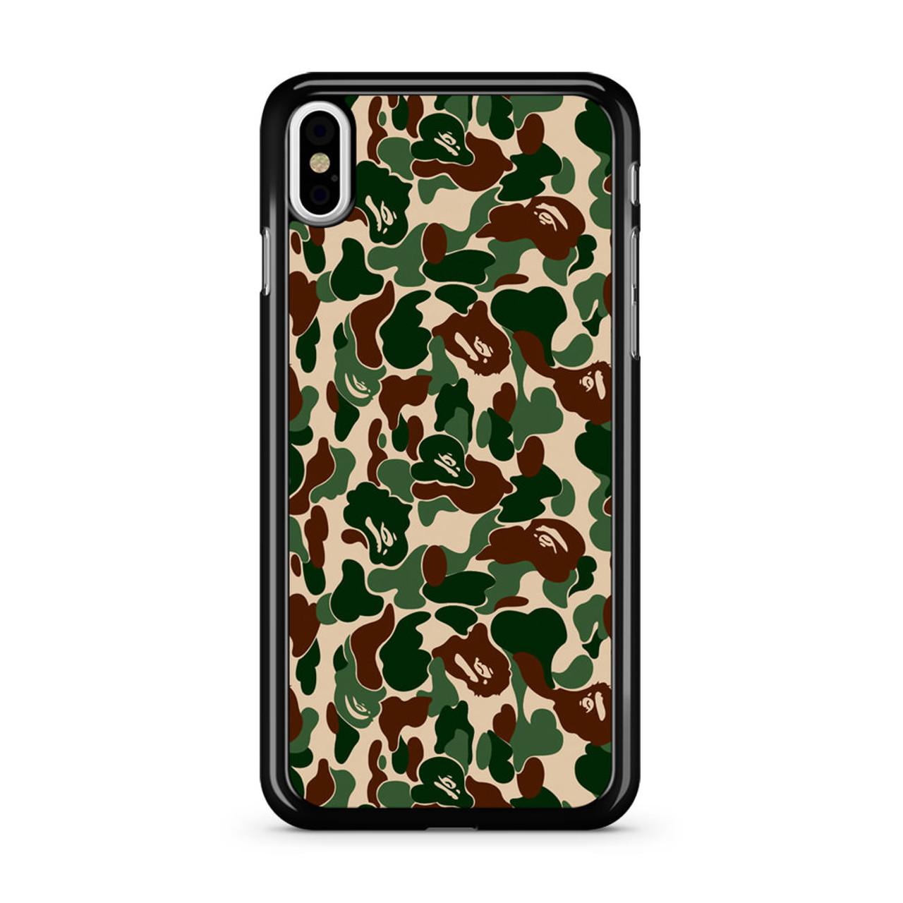 new style 3f145 59bbe Bathing Ape Bape Camo Real Tree iPhone X Case