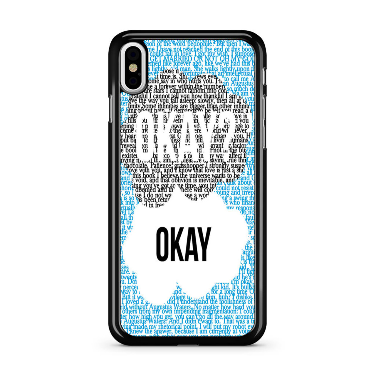 new arrival 4db71 fc0fb The Fault in Our Stars Quotes iPhone X Case
