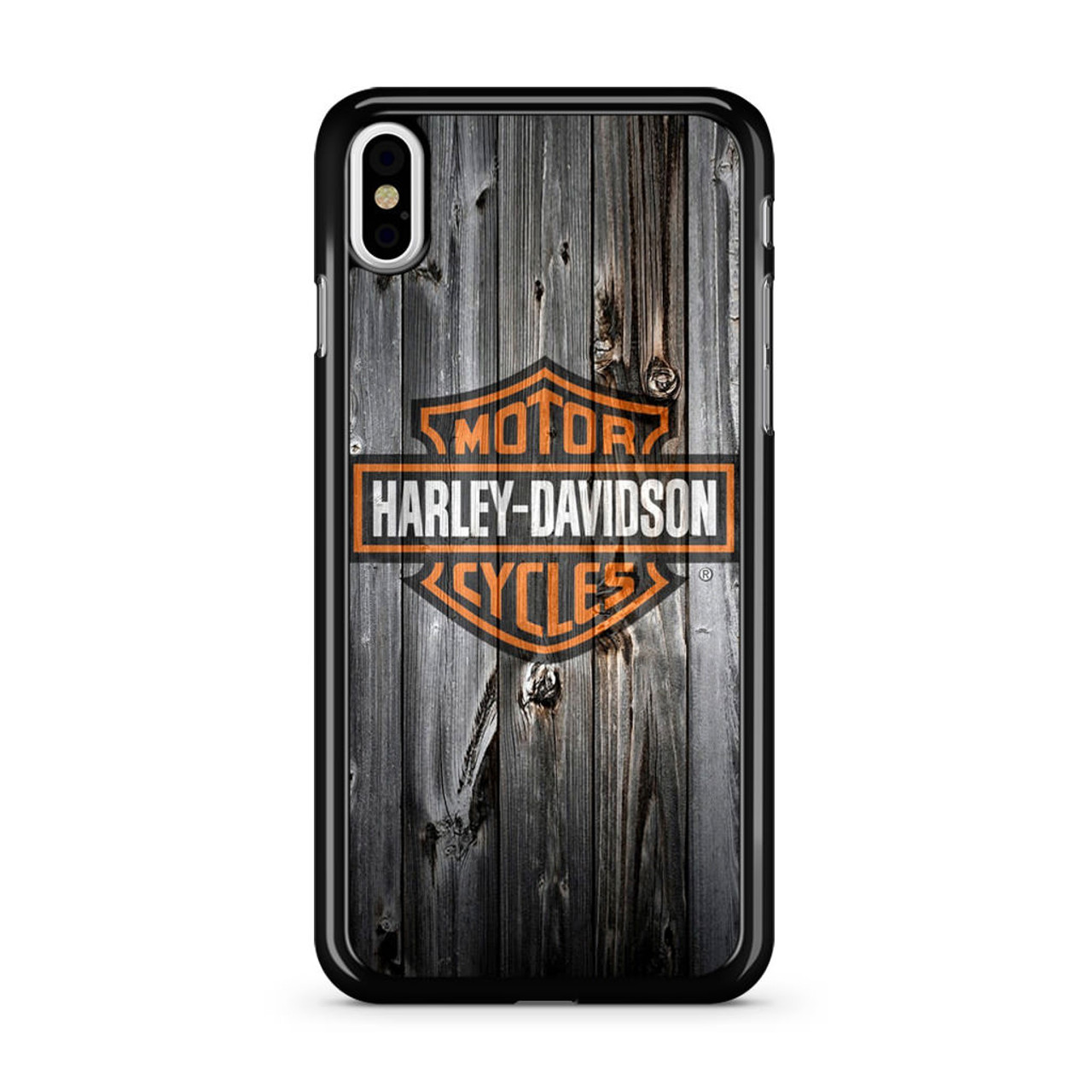 best cheap db1ed 5574c Harley Davidson Wood Art iPhone X Case