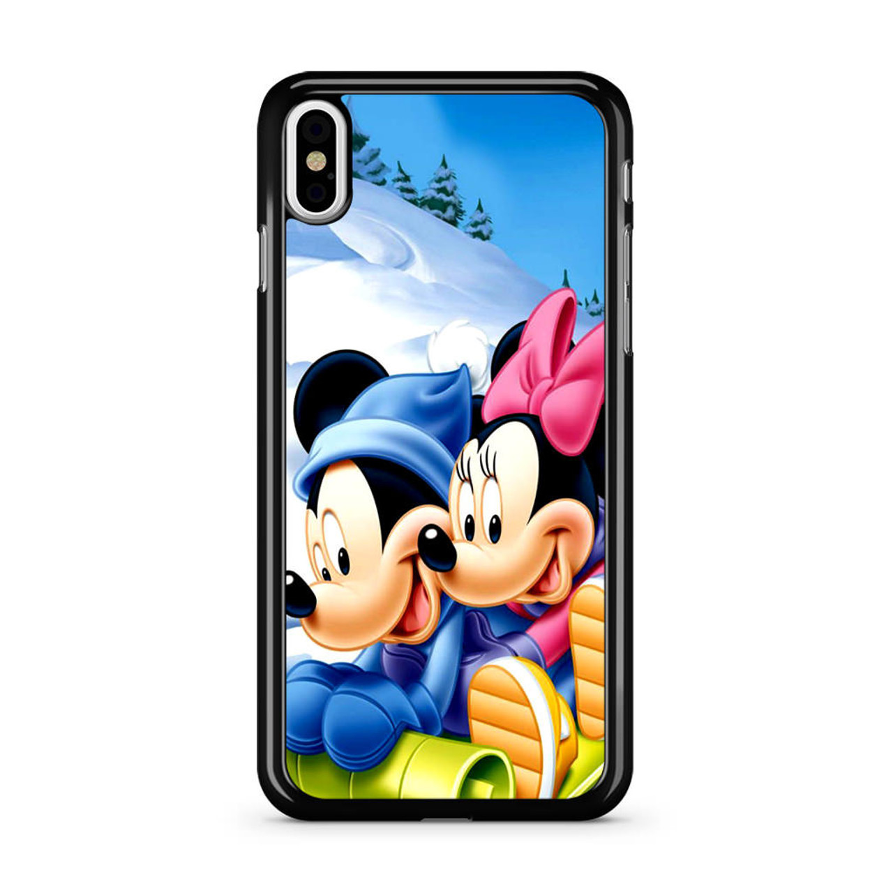 best website 641ac f0f33 Mickey Mouse and Minnie Mouse iPhone X Case