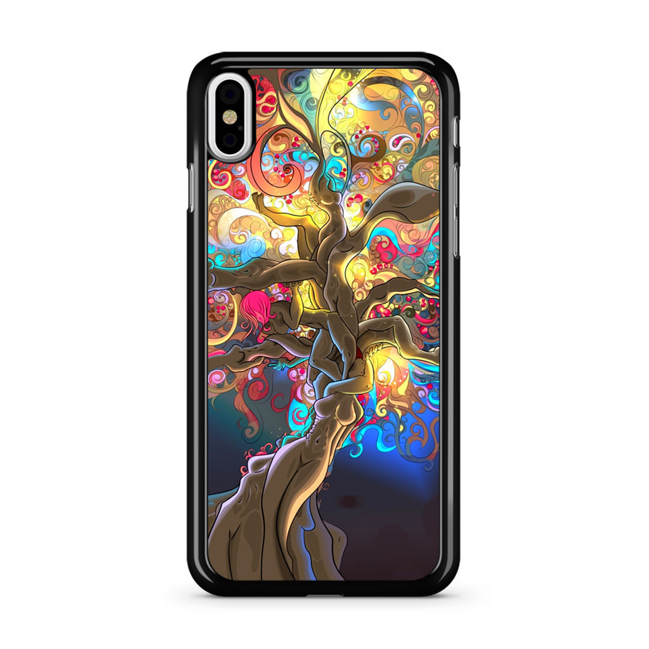 Artistic Psychedelic Womens Tree iPhone X Case - CASESHUNTER 6150c81562