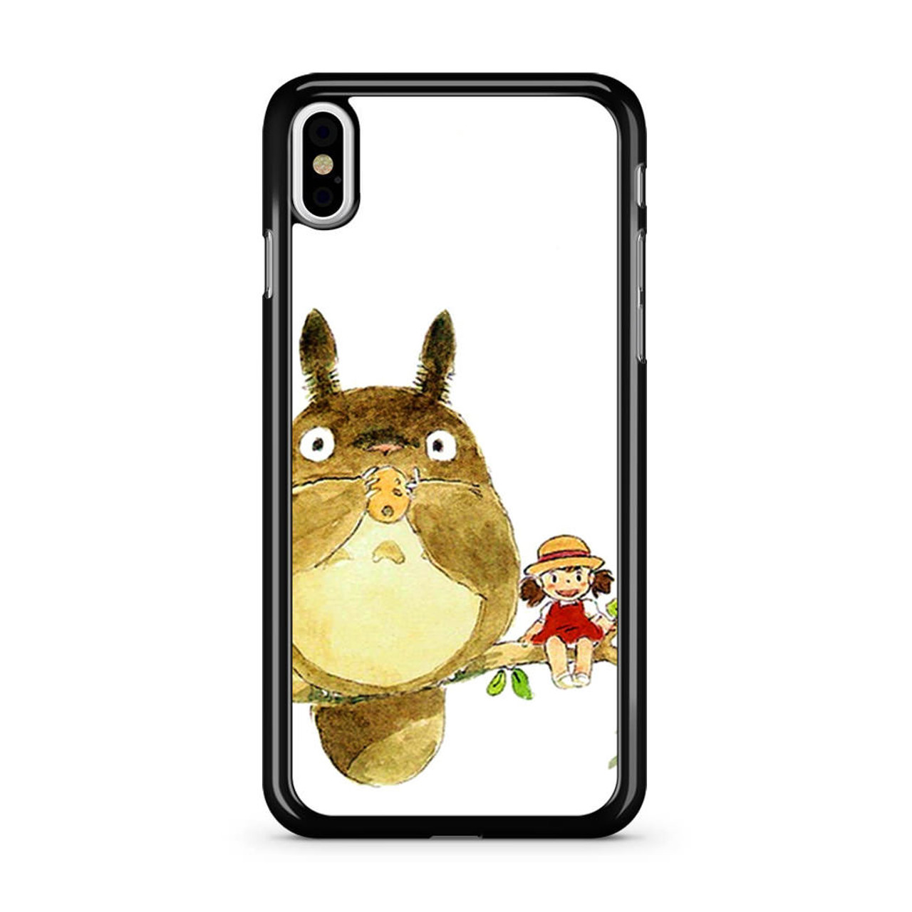 pretty nice 969c7 1aa3f My Neighbor Totoro Cute Girl Branch Art iPhone X Case