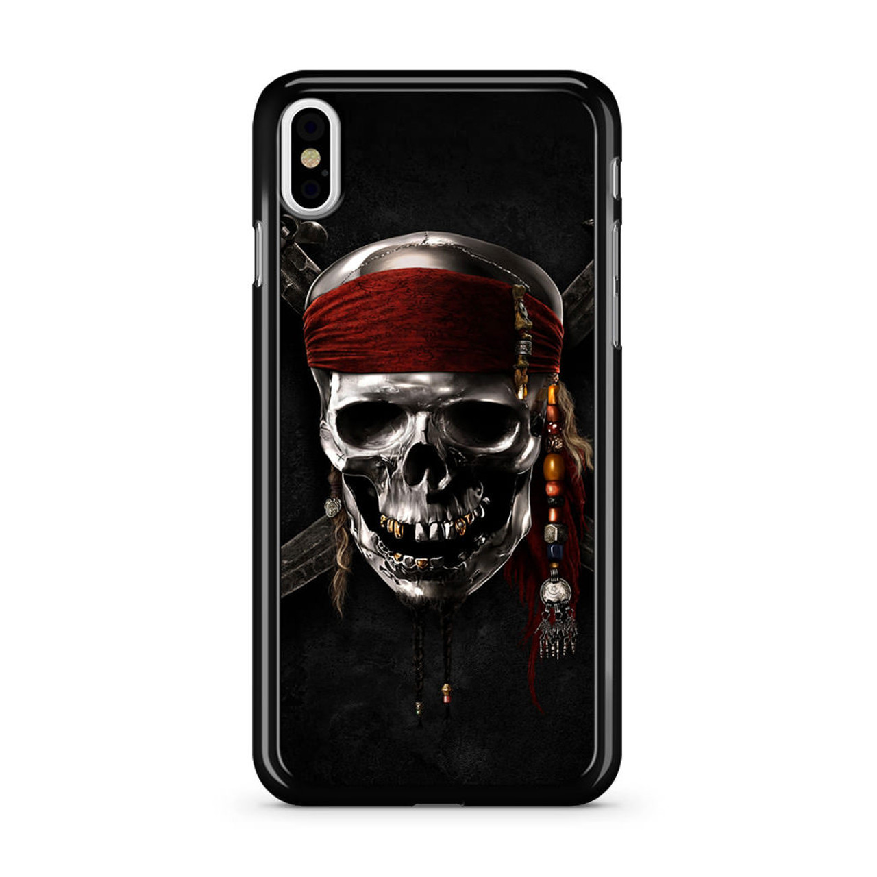 the latest 6ae99 853bd Pirates of Carribean Skull Logo iPhone X Case