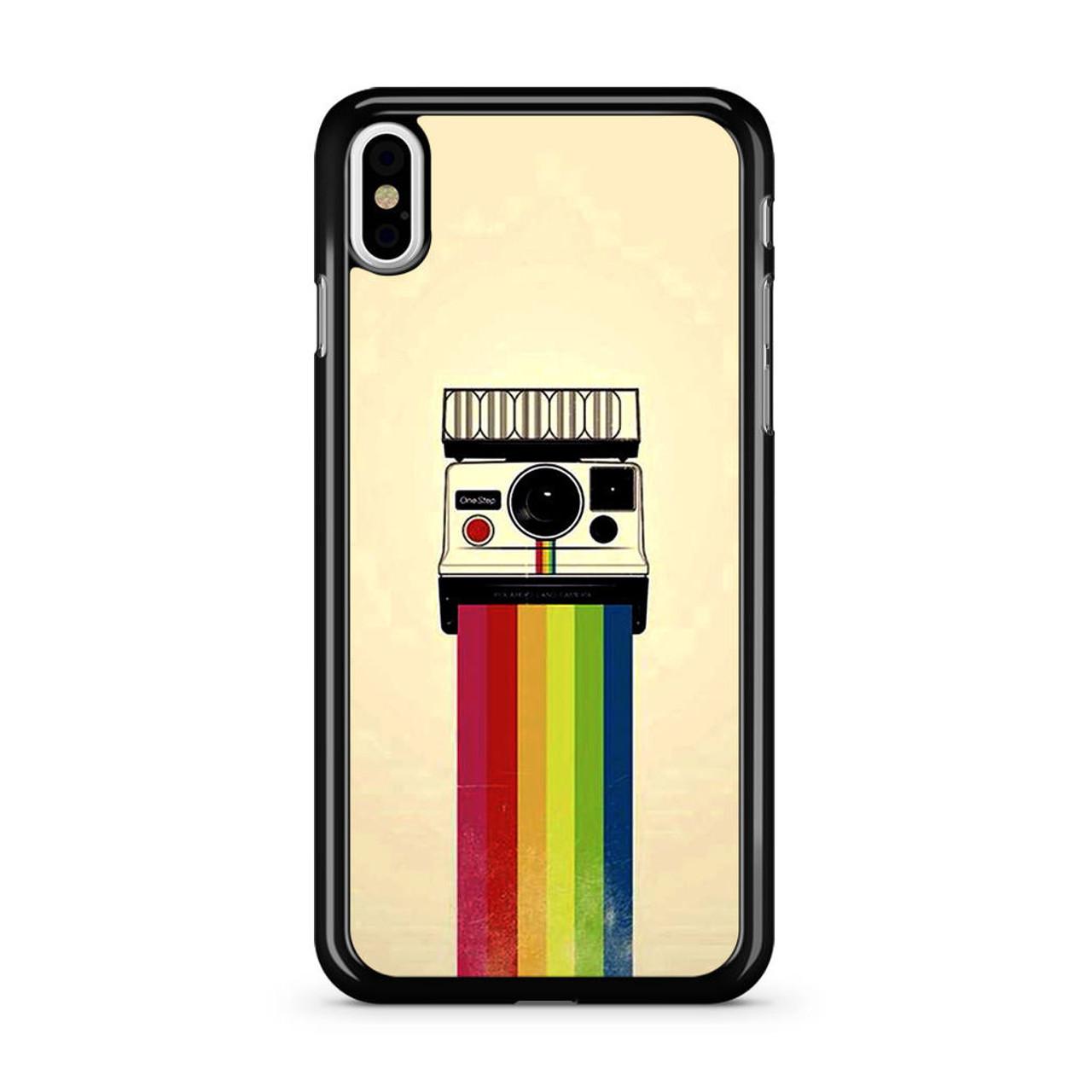 reputable site a75f6 bc6c4 Polaroid Camera Colorful Rainbow iPhone X Case