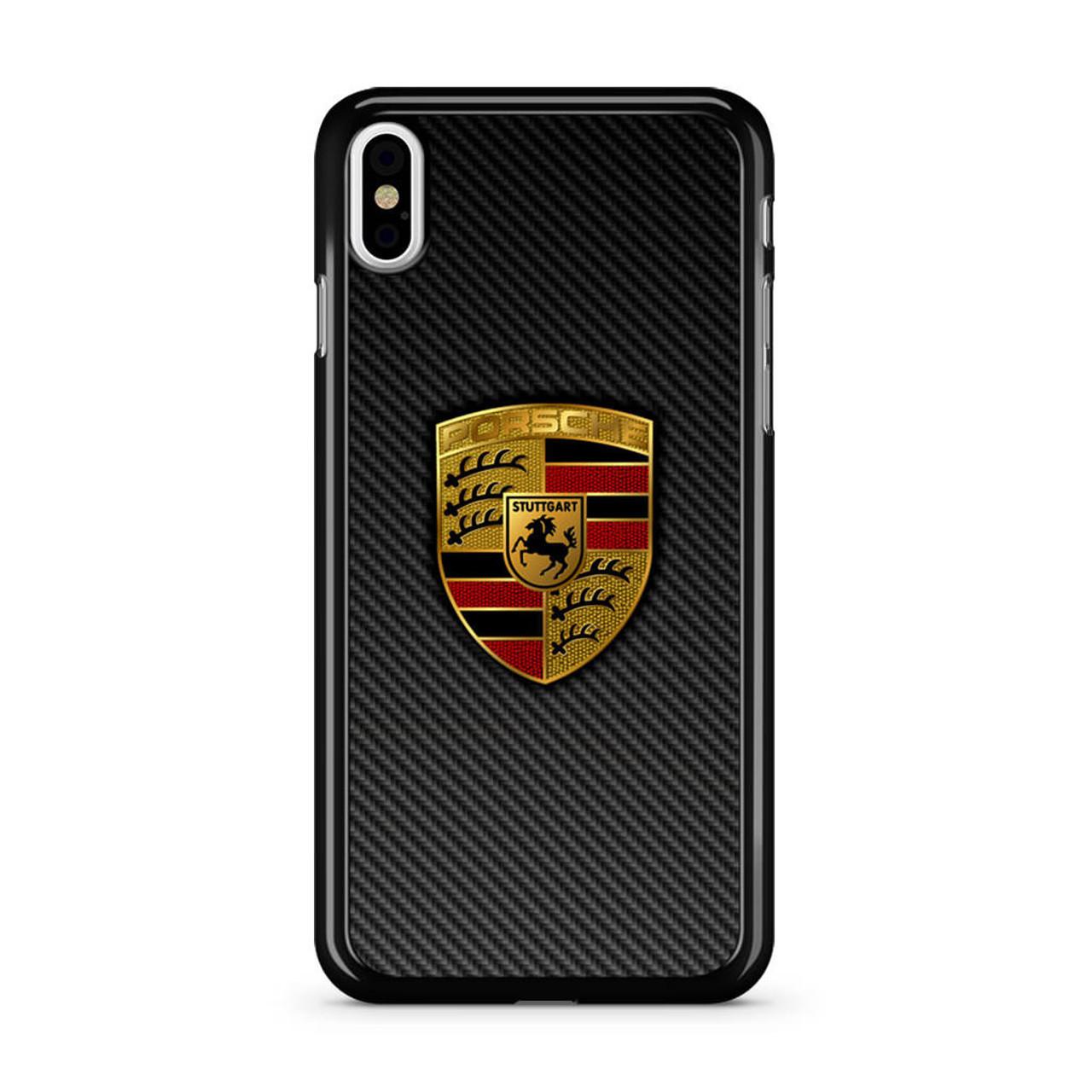 san francisco aedd7 2b130 Carbon Porsche Logo iPhone X Case