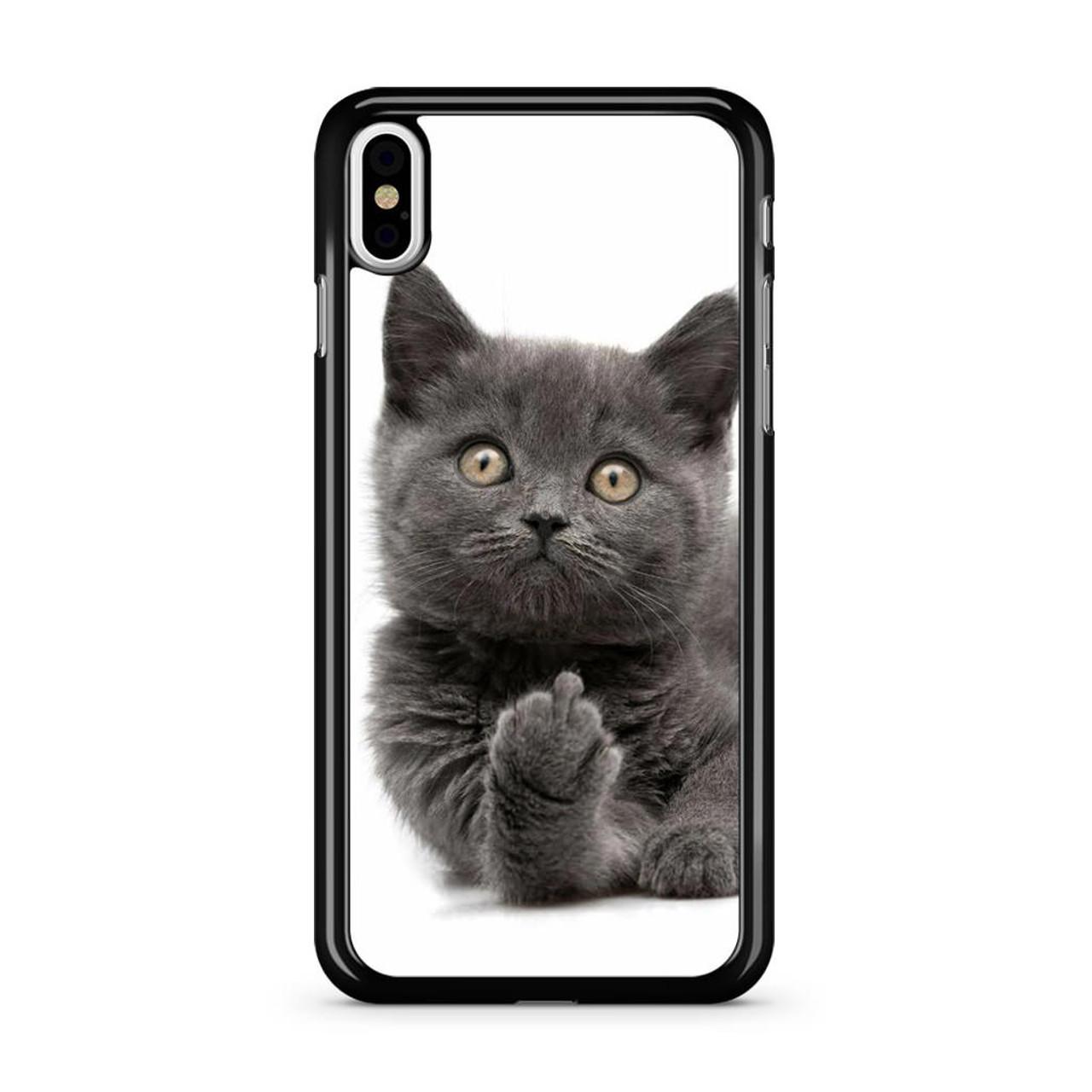 size 40 8f765 2d2ed Finger British Shorthair Cat iPhone X Case