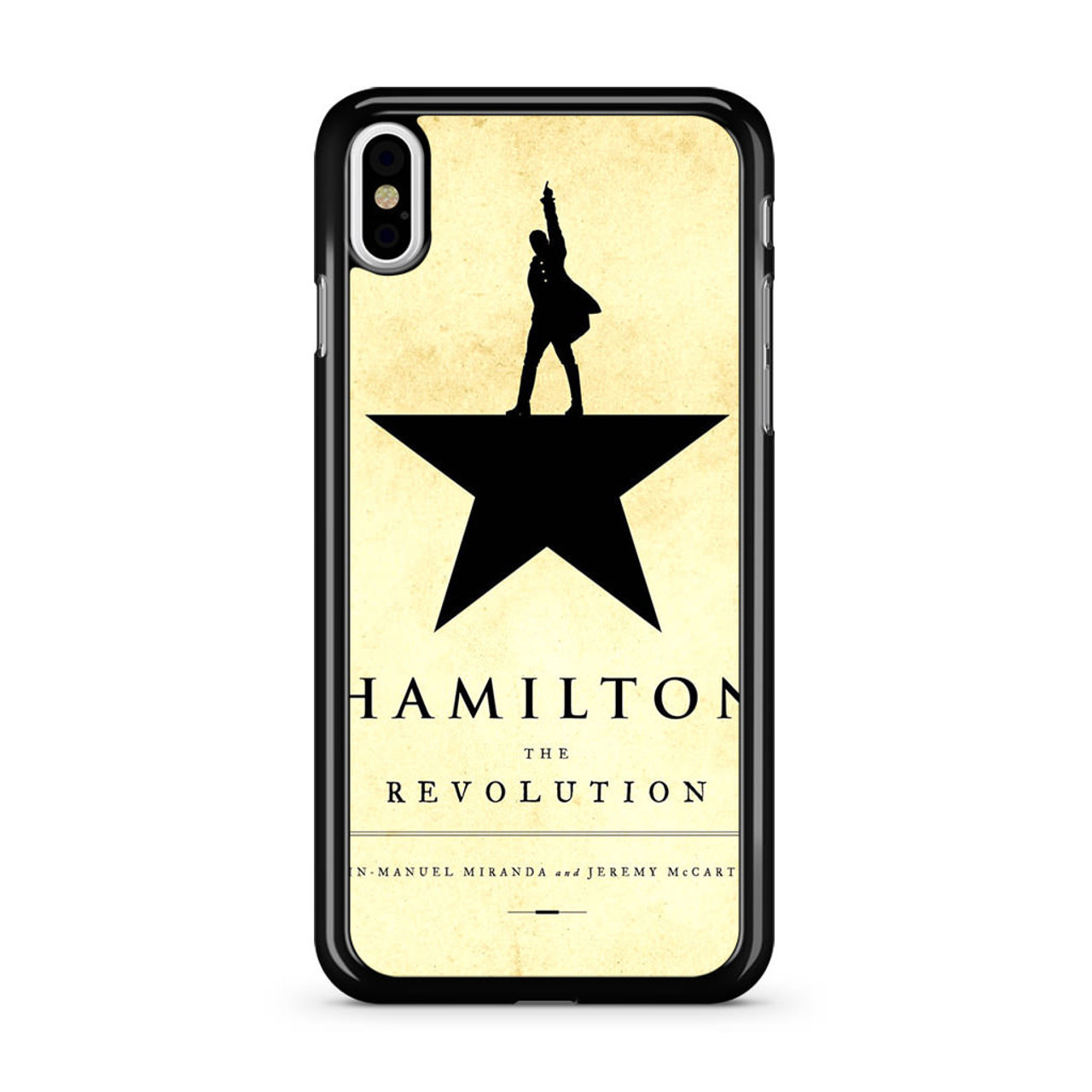 check out b8865 32d47 Hamilton The Revolution - Book Cover iPhone X Case
