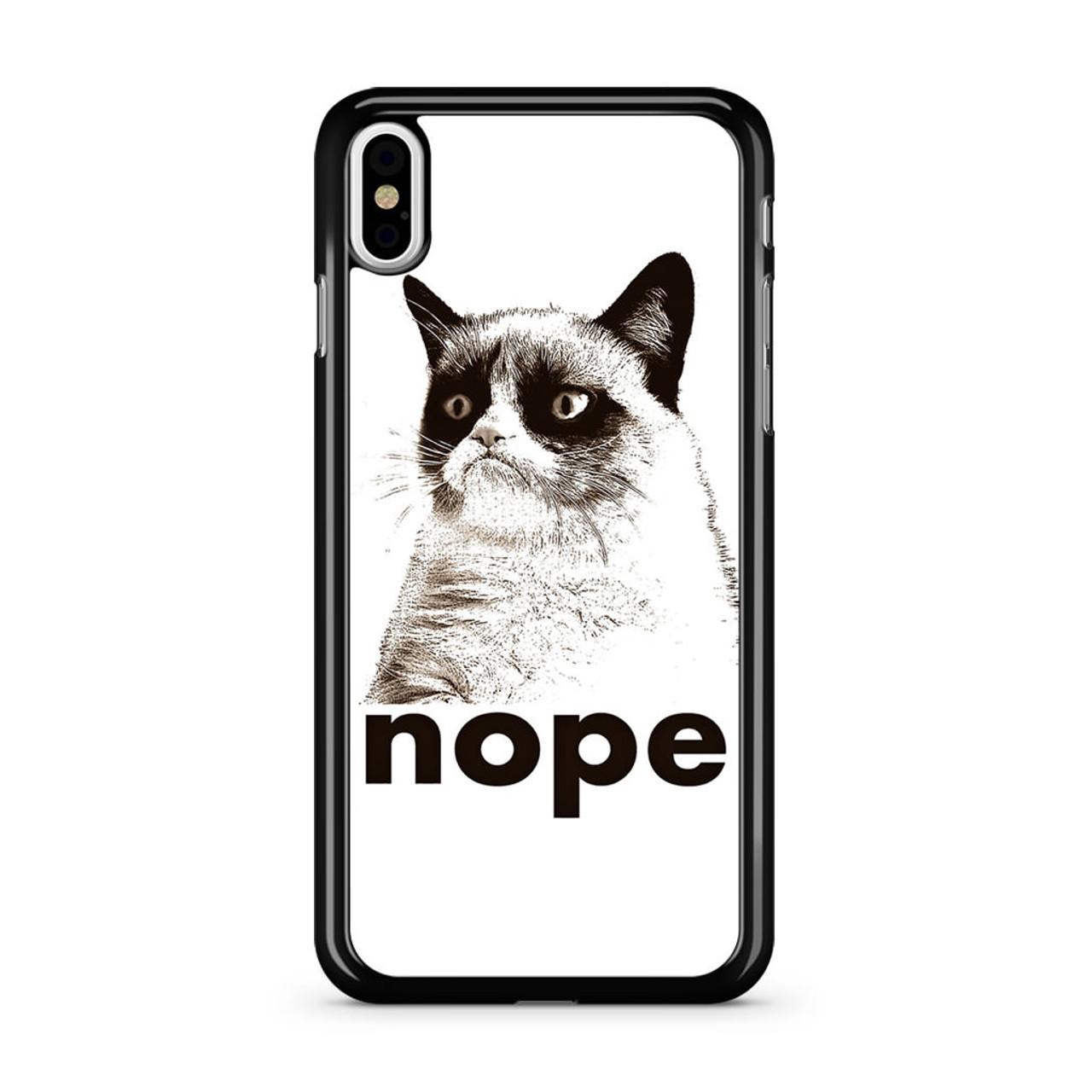 low priced 1ece1 6d7ab Nope grumpy Cat iPhone X Case