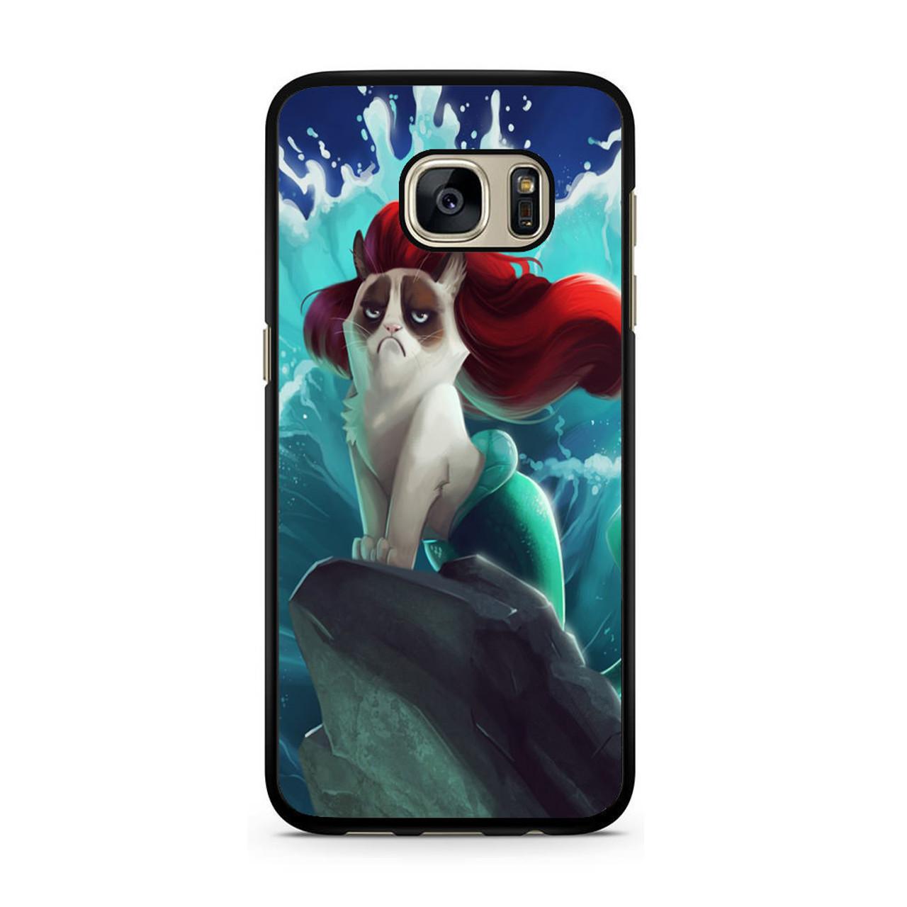 cheaper db172 476d5 Grumpy Cat and Disney Little Mermaid Samsung Galaxy S7 Case