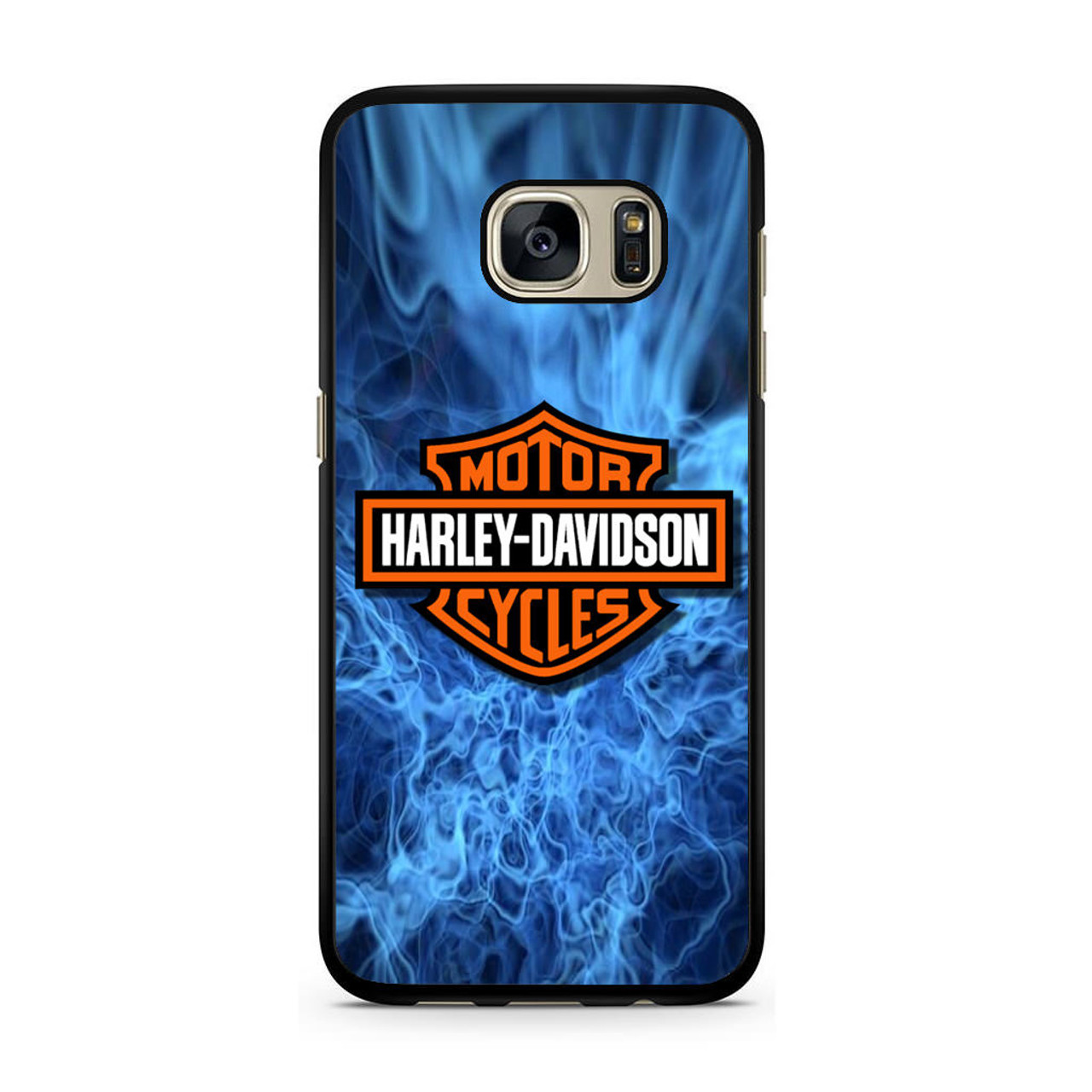 online store 4d1aa f1871 Harley Davidson Blue Flame Samsung Galaxy S7 Case