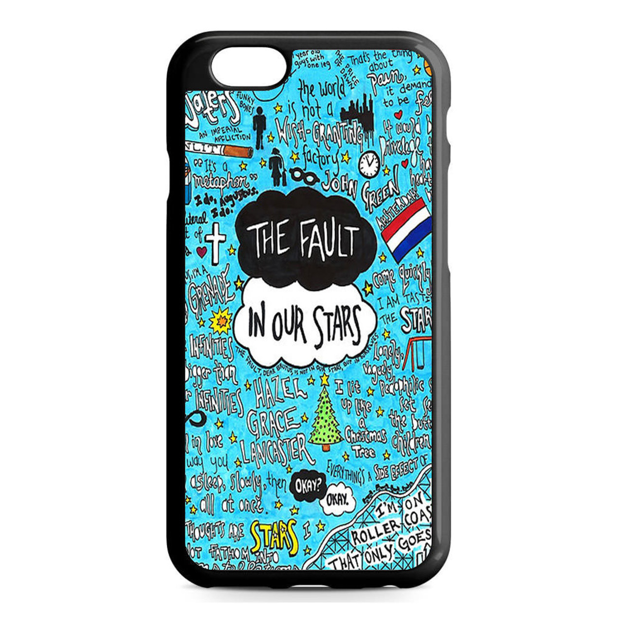 100% authentic b99c6 9fa0f The Fault in Our Stars Quotes Flag iPhone 6/6S Case