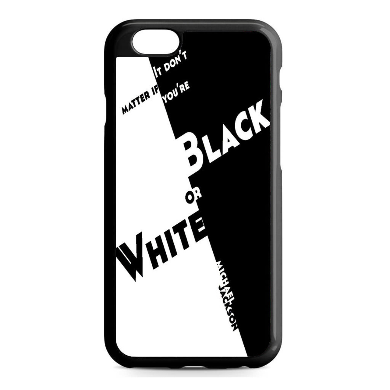 finest selection f6fe5 a702d Black Or White Michael Jackson iPhone 6/6S Case