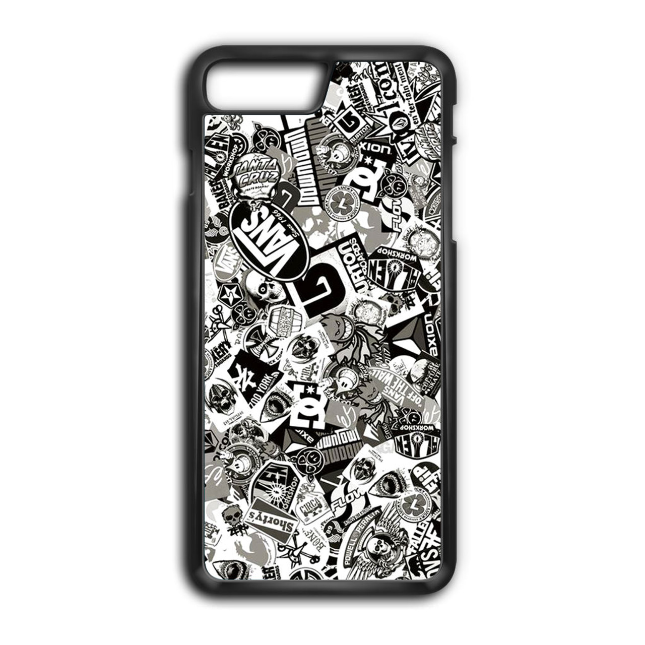 detailed look 4dc02 763ef Stickerbomb Skate Dub Vans BW iPhone 7 Plus Case