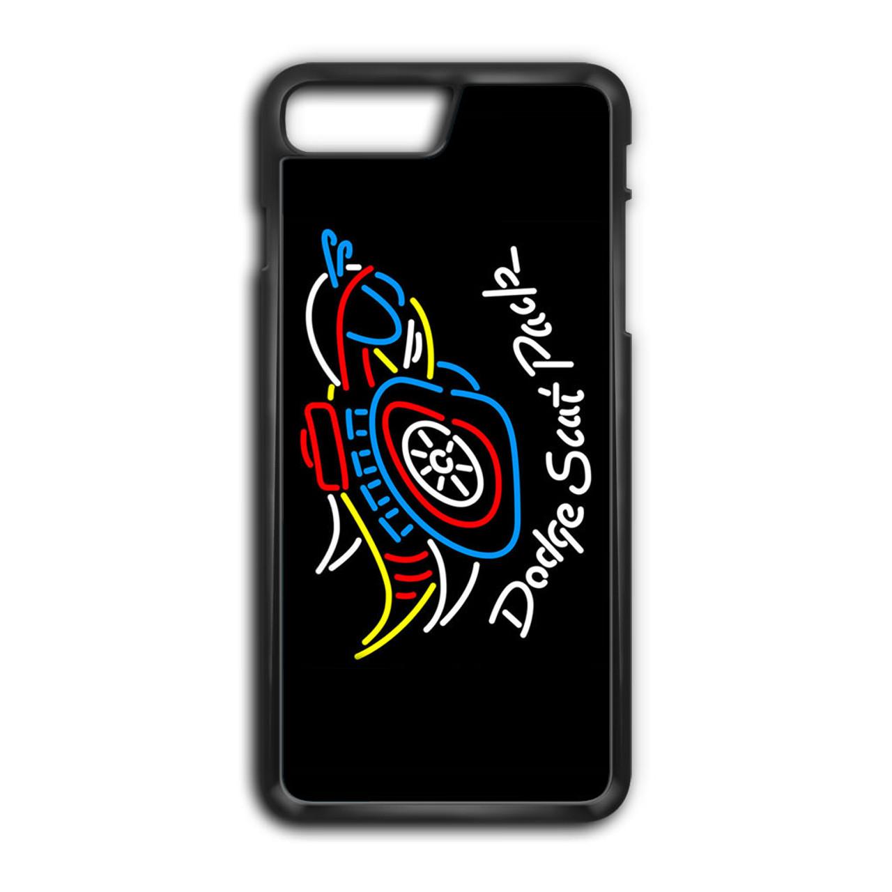 promo code 88ecd 262f1 Dodge Scat Pack Mopar Logo Neon Sign iPhone 7 Plus Case