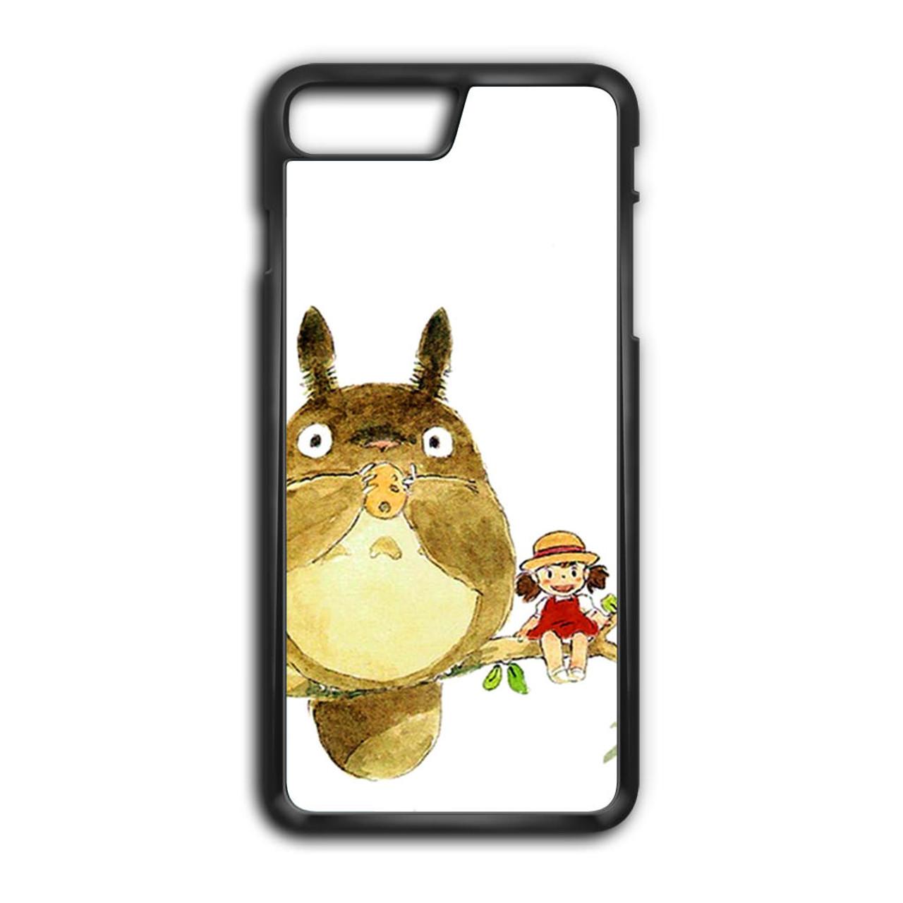 super popular 54947 2fcc4 My Neighbor Totoro Cute Girl Branch Art iPhone 7 Plus Case